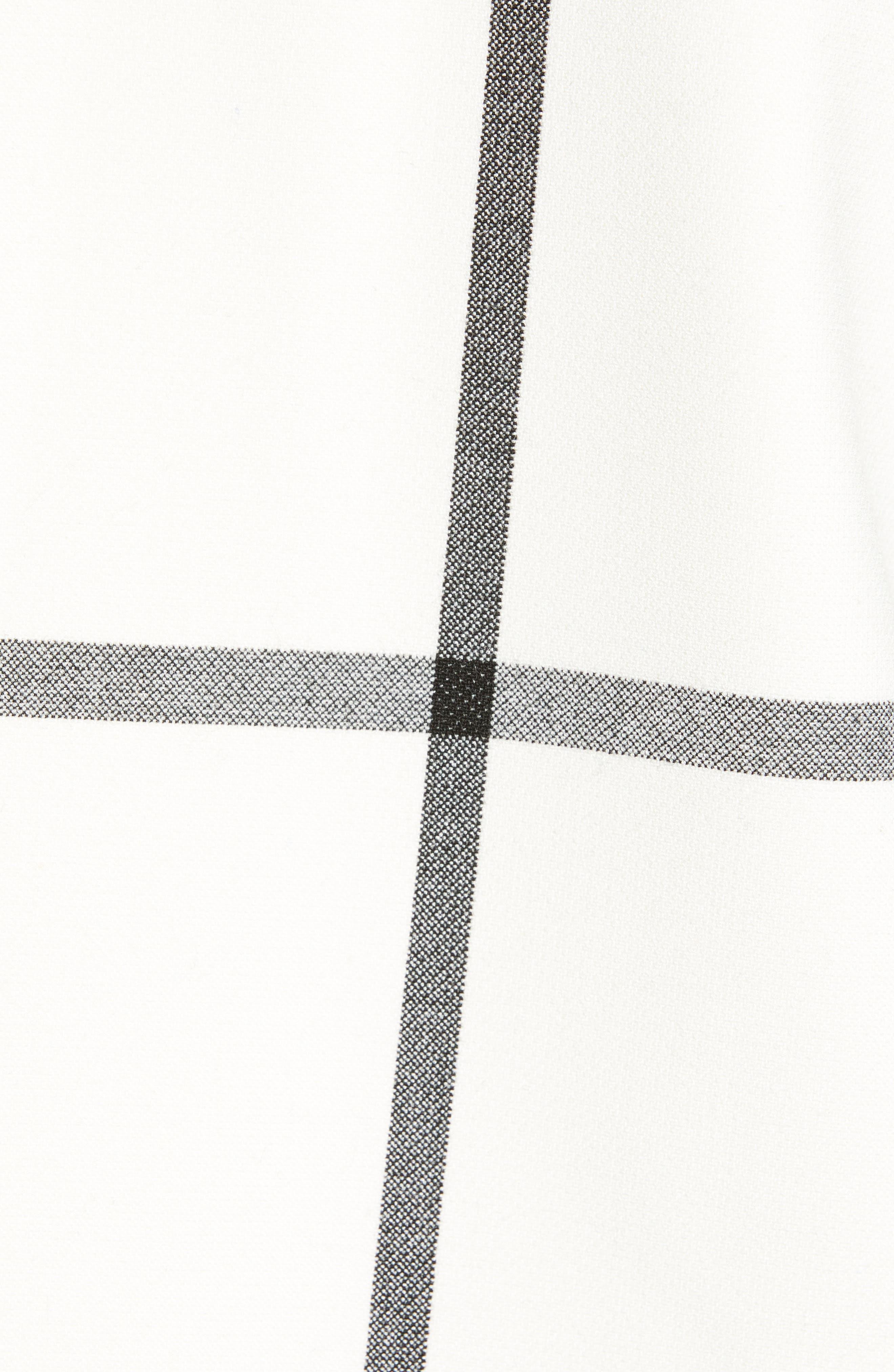 Oversize Check Topper Coat,                             Alternate thumbnail 7, color,                             IVORY