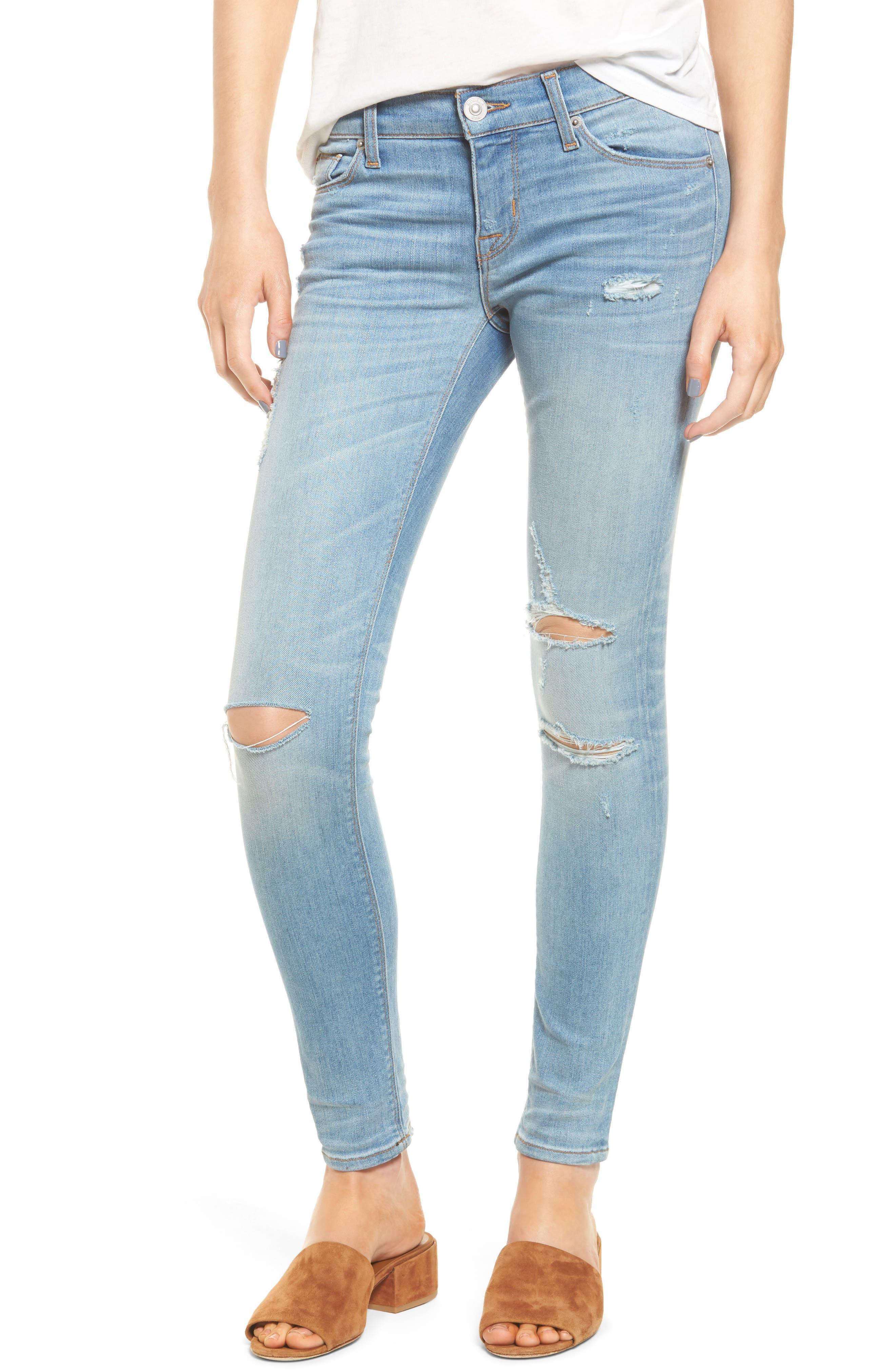 Krista Ankle Super Skinny Jeans,                             Main thumbnail 2, color,