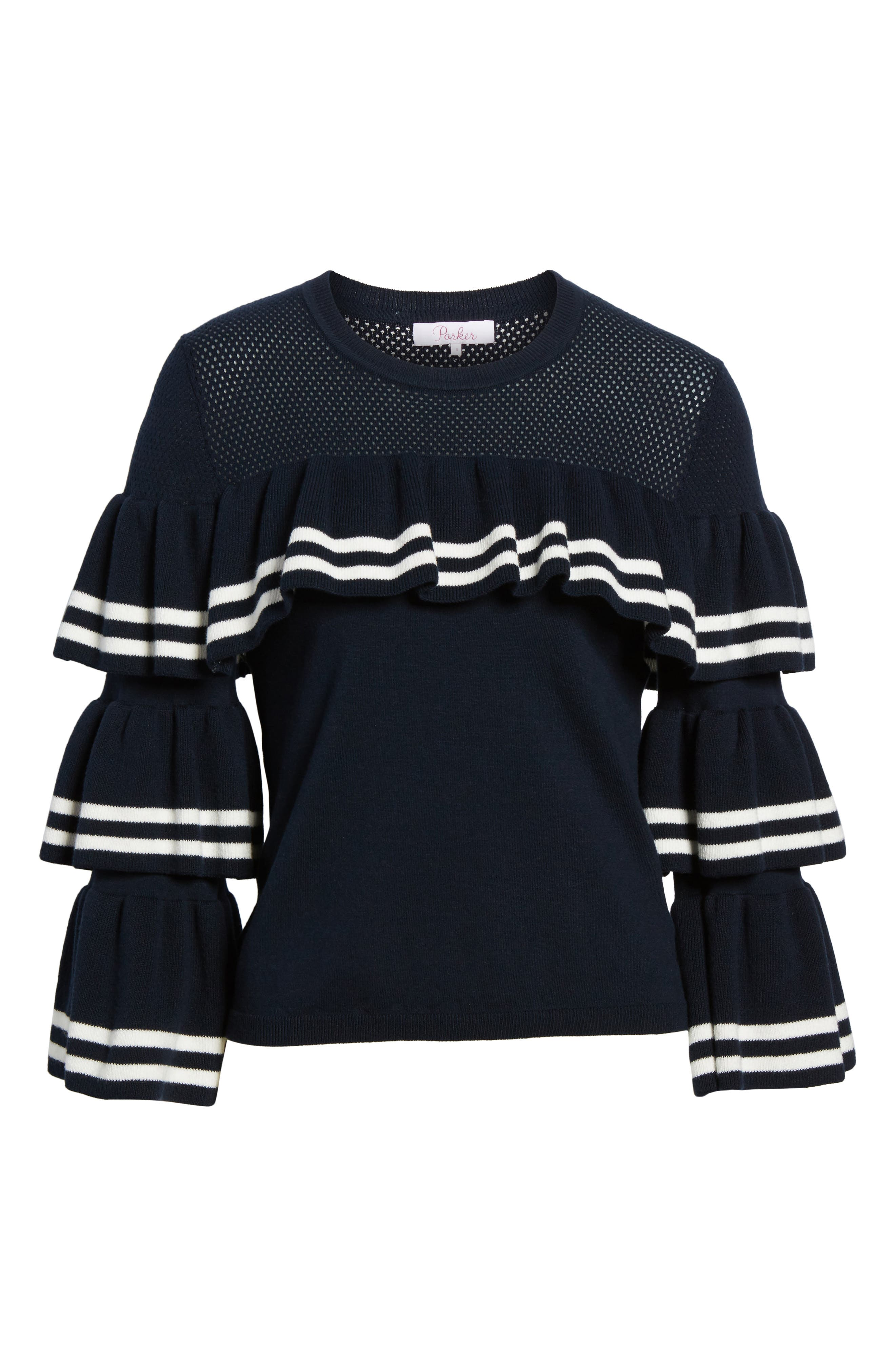 Rhonda Tiered Sleeve Sweater,                             Alternate thumbnail 6, color,