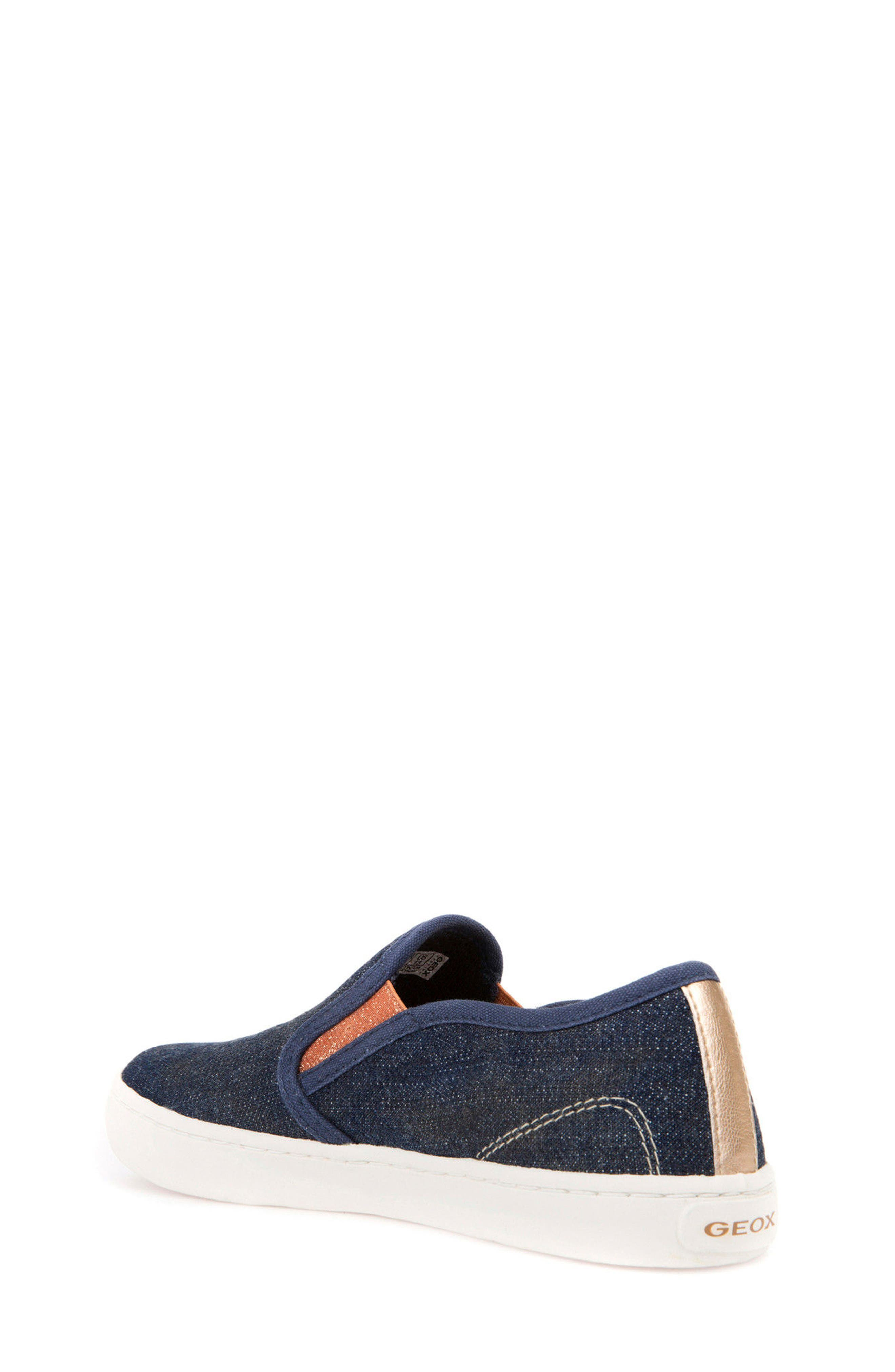 Jr Kiwi Slip-On Waterproof Sneaker,                             Alternate thumbnail 2, color,                             JEANS