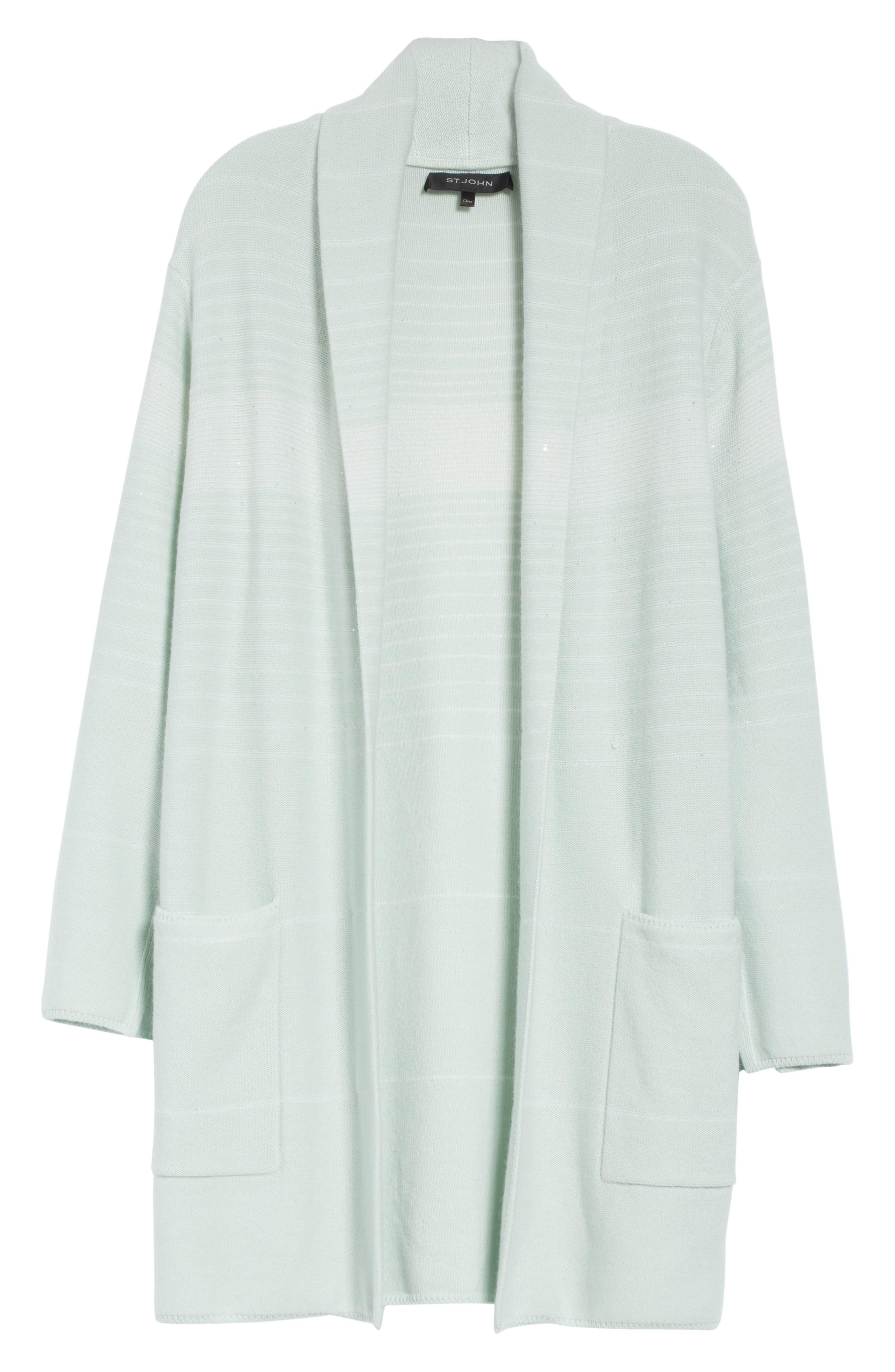 Sequin Cashmere & Silk Cardigan,                             Alternate thumbnail 6, color,