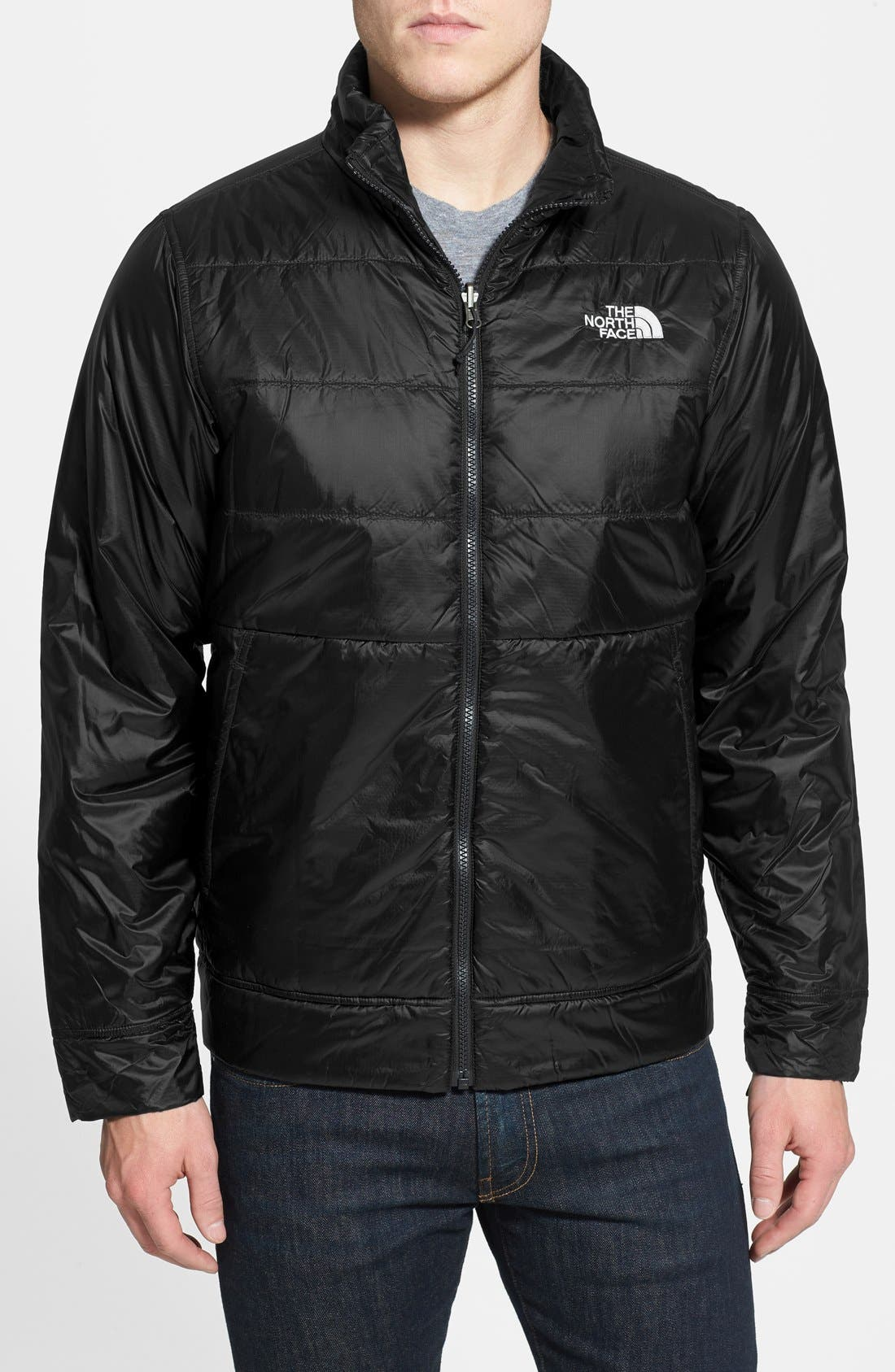 'All About' TriClimate<sup>®</sup> Waterproof Hooded 3-in-1 HyVent<sup>®</sup> Jacket,                             Alternate thumbnail 3, color,                             001