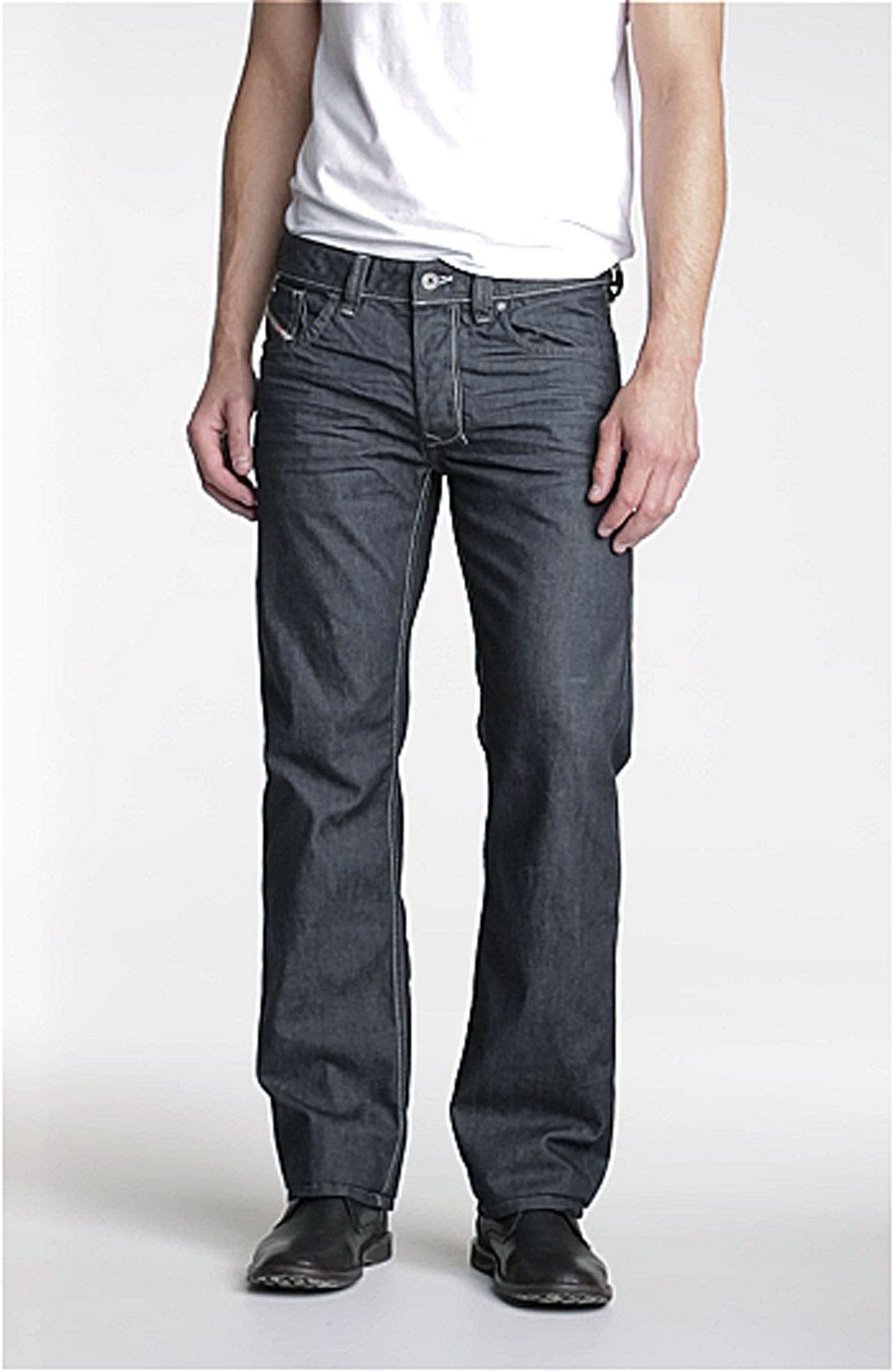 'Larkee' Straight Leg Jeans,                             Alternate thumbnail 2, color,                             400