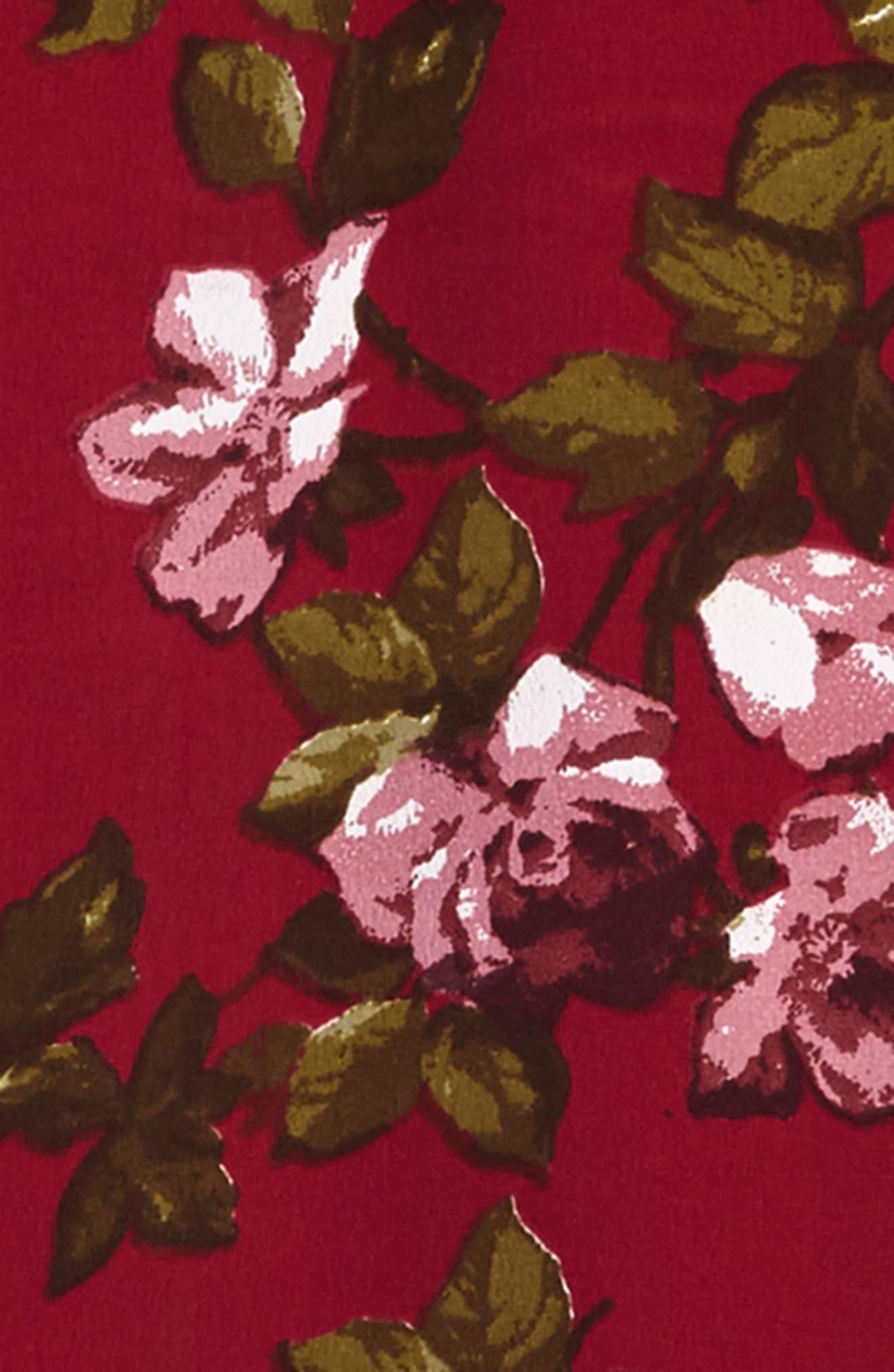 Print Bell Sleeve Dress,                             Alternate thumbnail 3, color,                             934