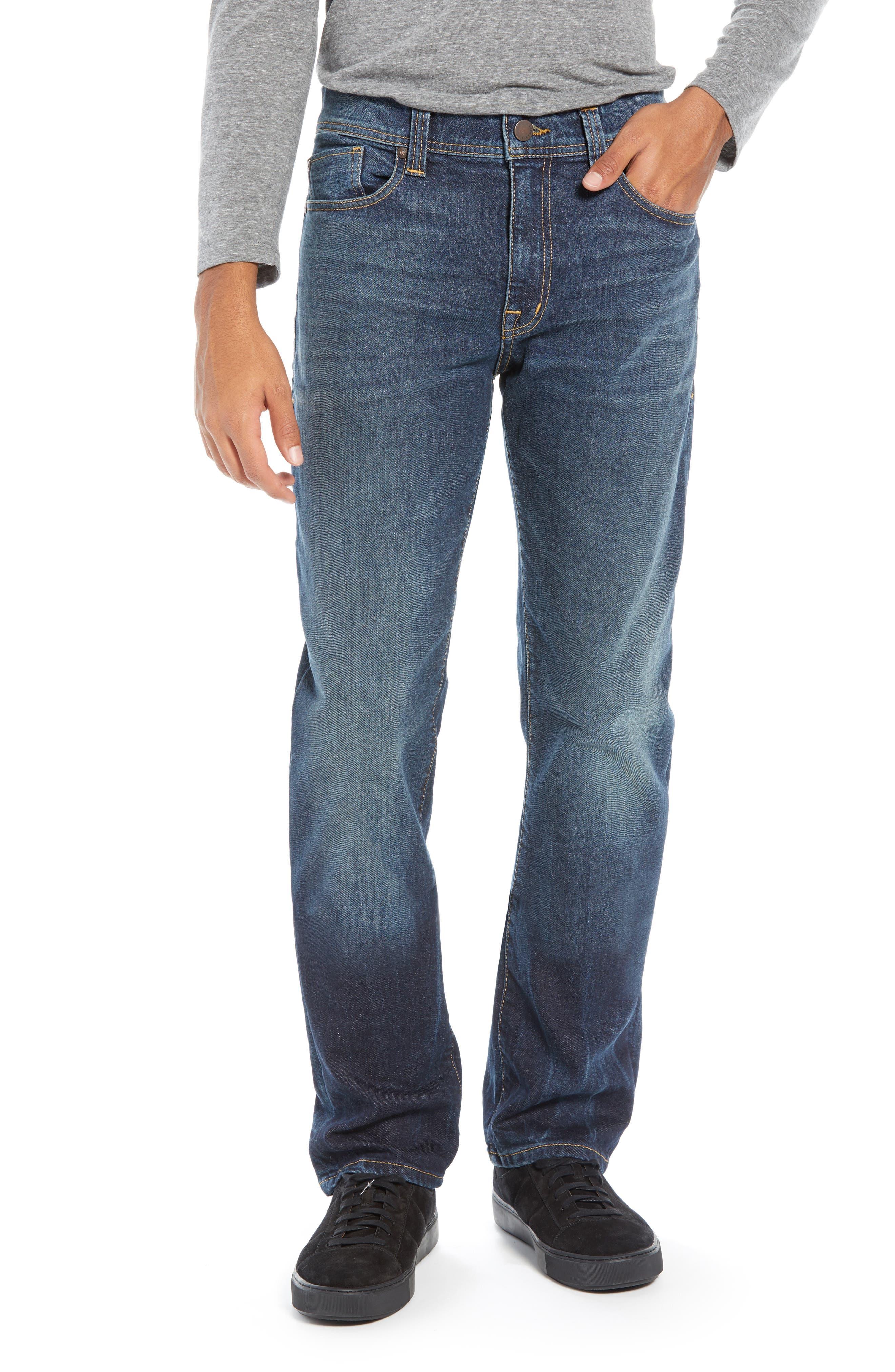 Jimmy Slim Straight Leg Jeans,                             Main thumbnail 1, color,                             NIAGARA
