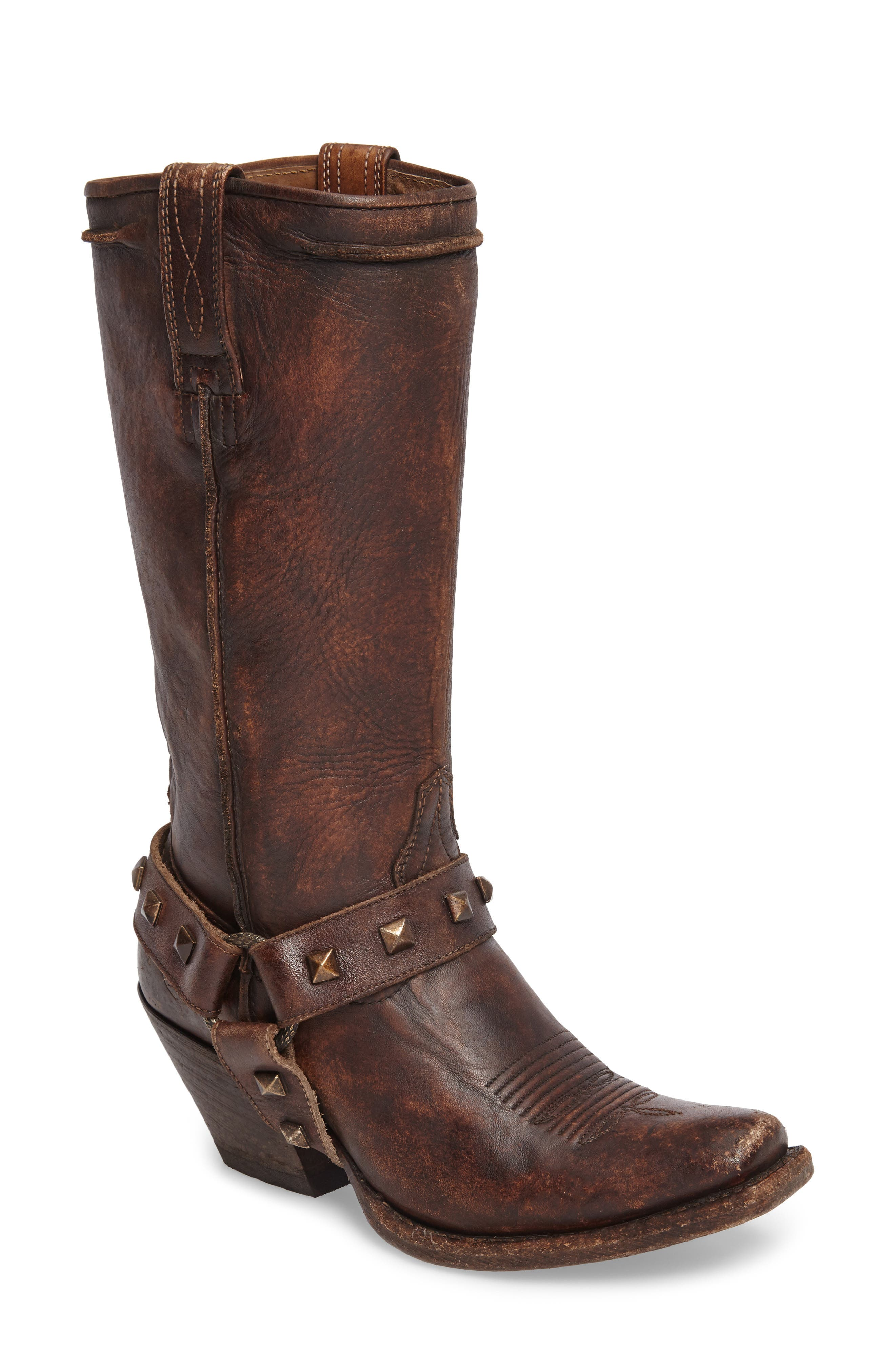 Rowan Western Harness Boot,                             Main thumbnail 1, color,                             NATURAL NORWOOD LEATHER
