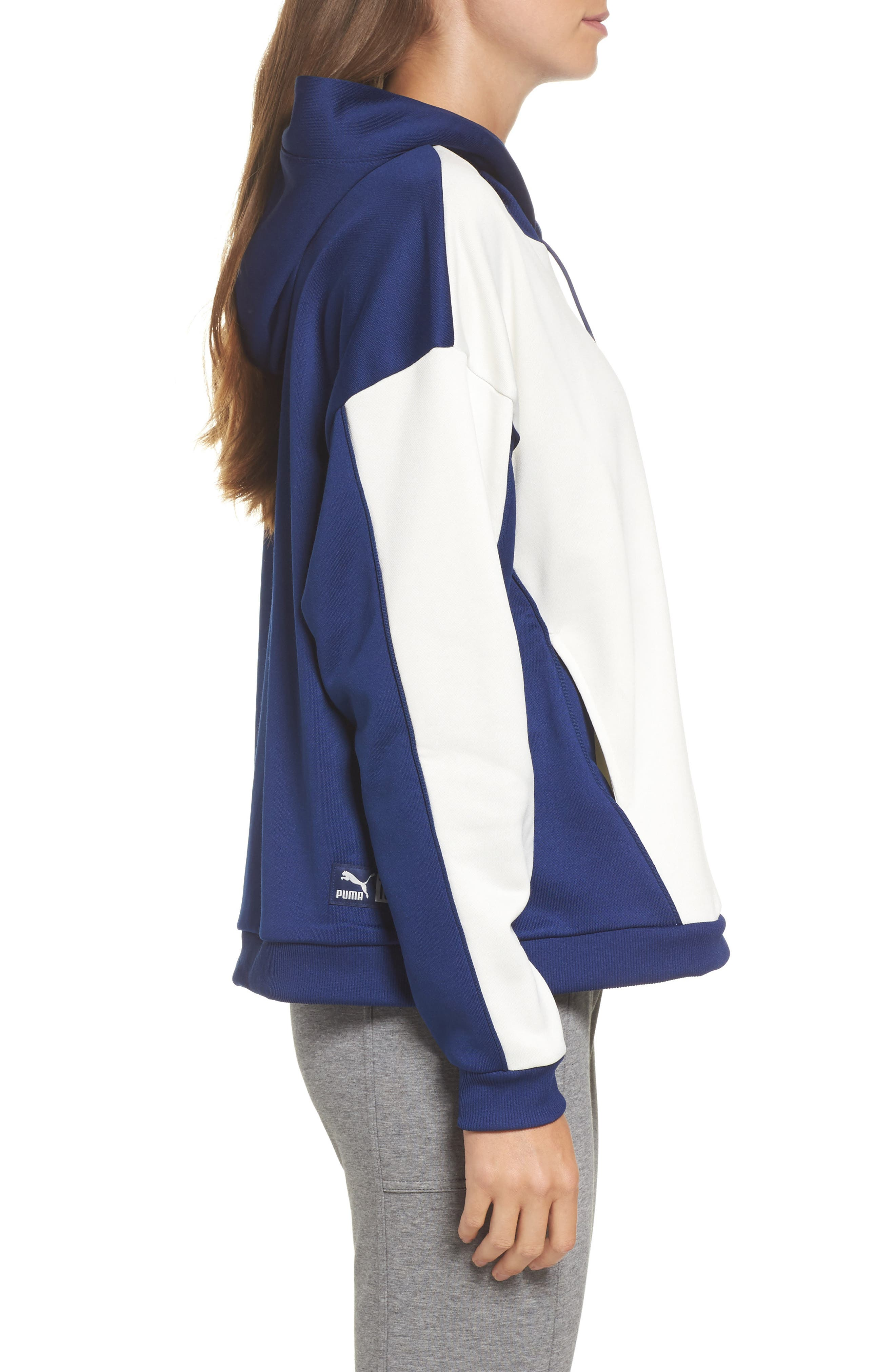 Colorblock Oversize Hoodie,                             Alternate thumbnail 3, color,                             400