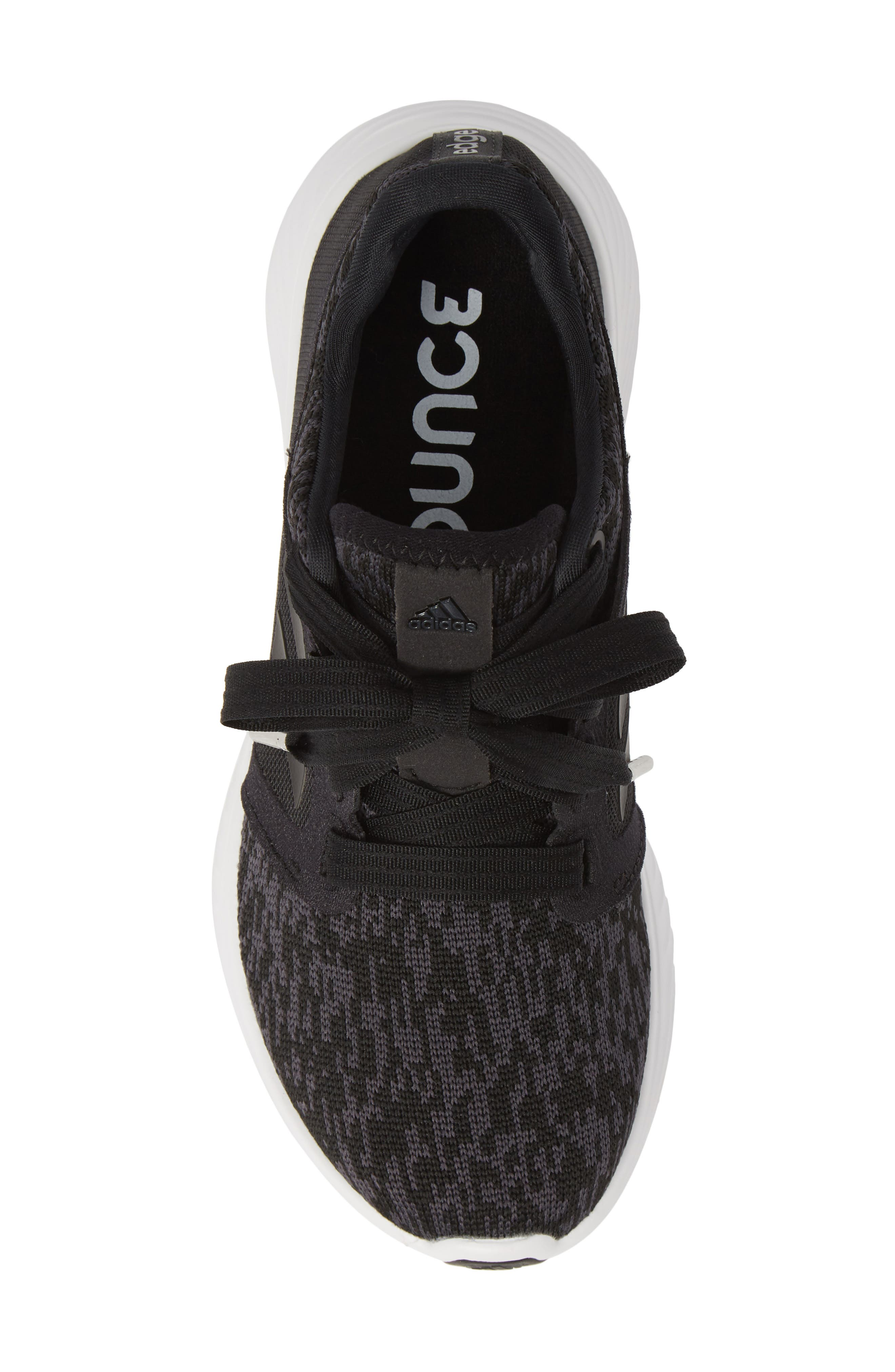 ADIDAS,                             Edge Lux 3 Running Shoe,                             Alternate thumbnail 5, color,                             CORE BLACK/ WHITE