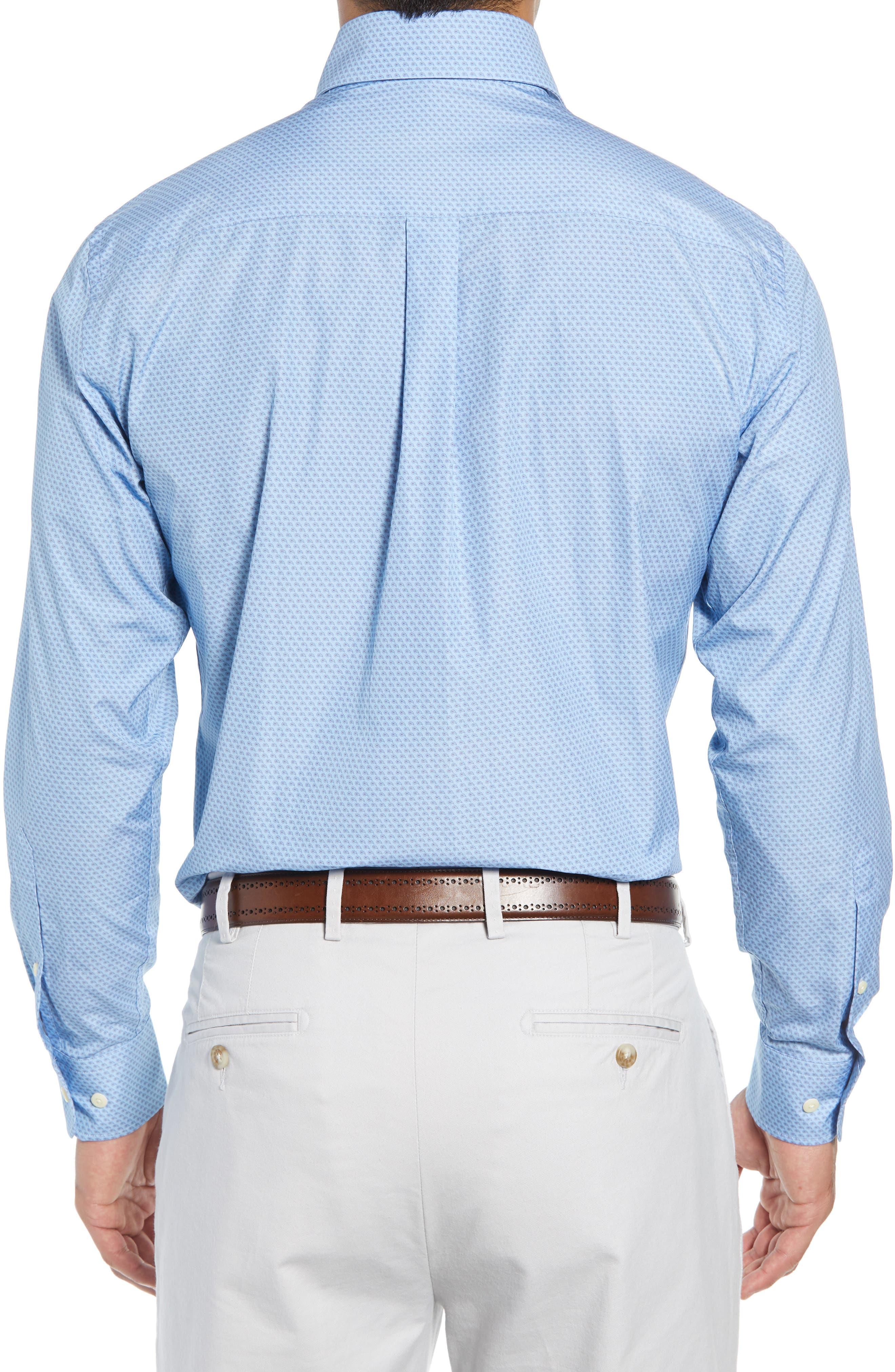 Niblick Regular Fit Sport Shirt,                             Alternate thumbnail 3, color,                             BLUE