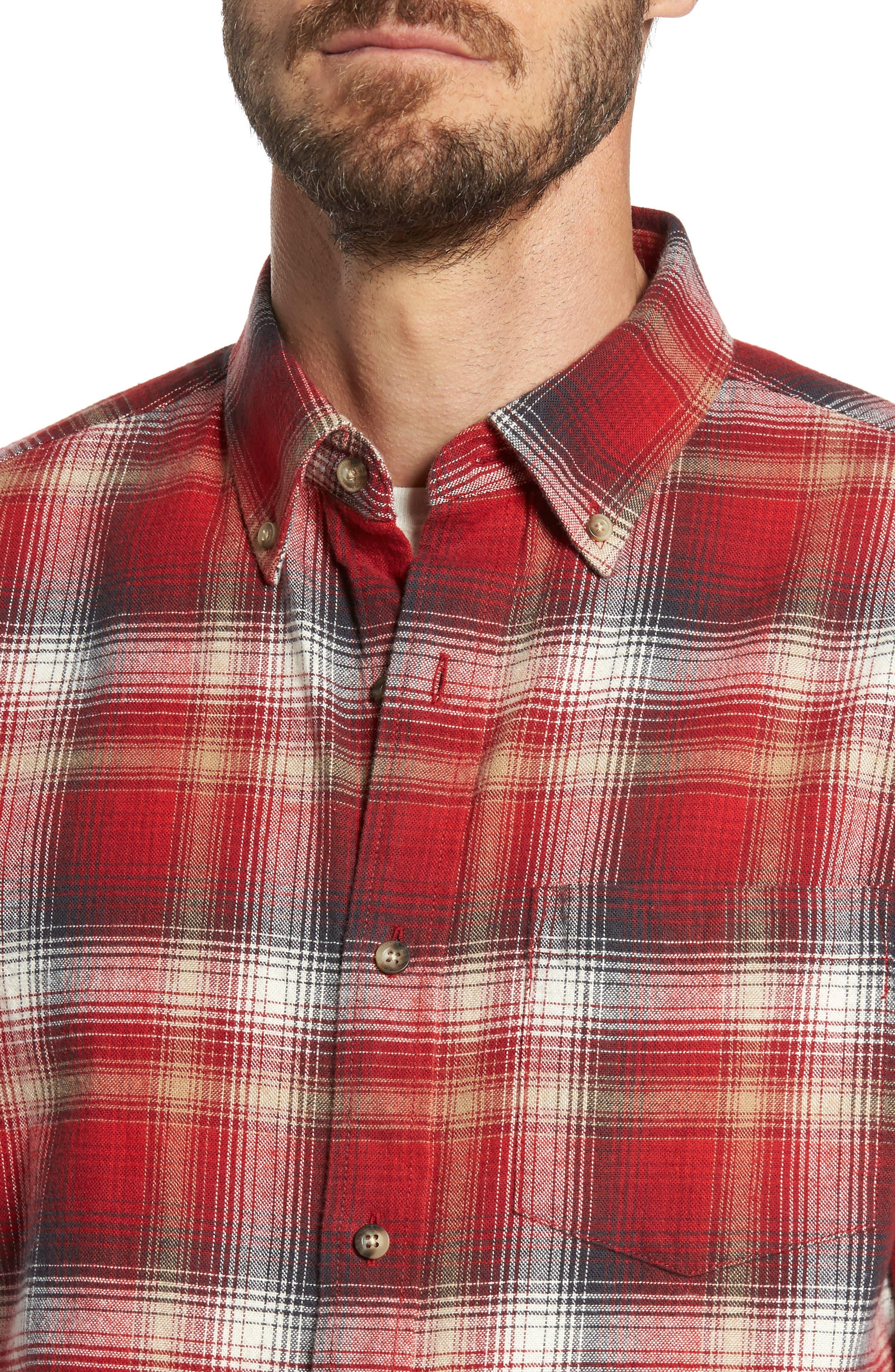 Lister Ombré Plaid Sport Shirt,                             Alternate thumbnail 8, color,