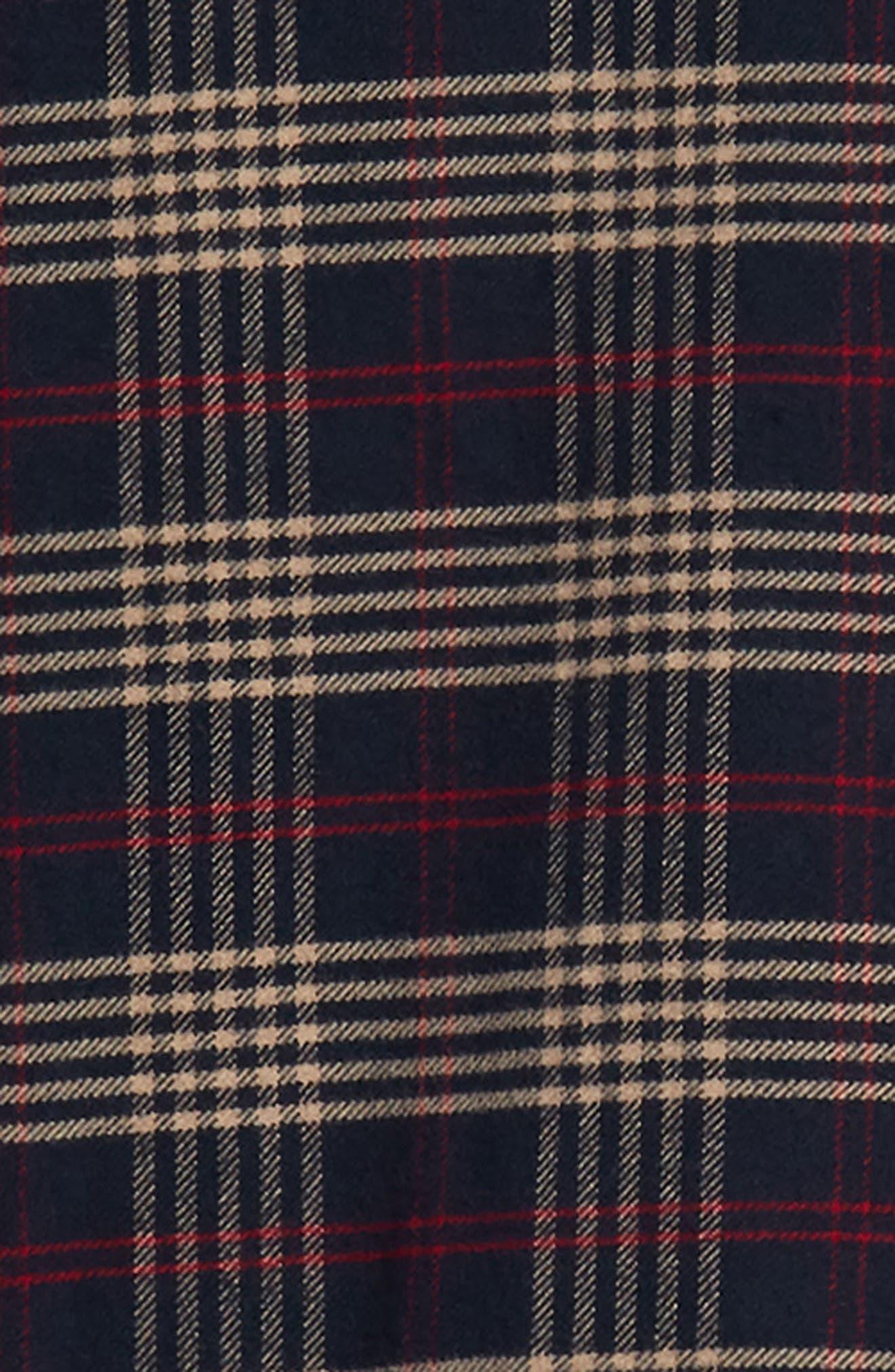 Forrest Slim Fit Plaid Flannel Sport Shirt,                             Alternate thumbnail 6, color,                             NAVY/RED/ELM