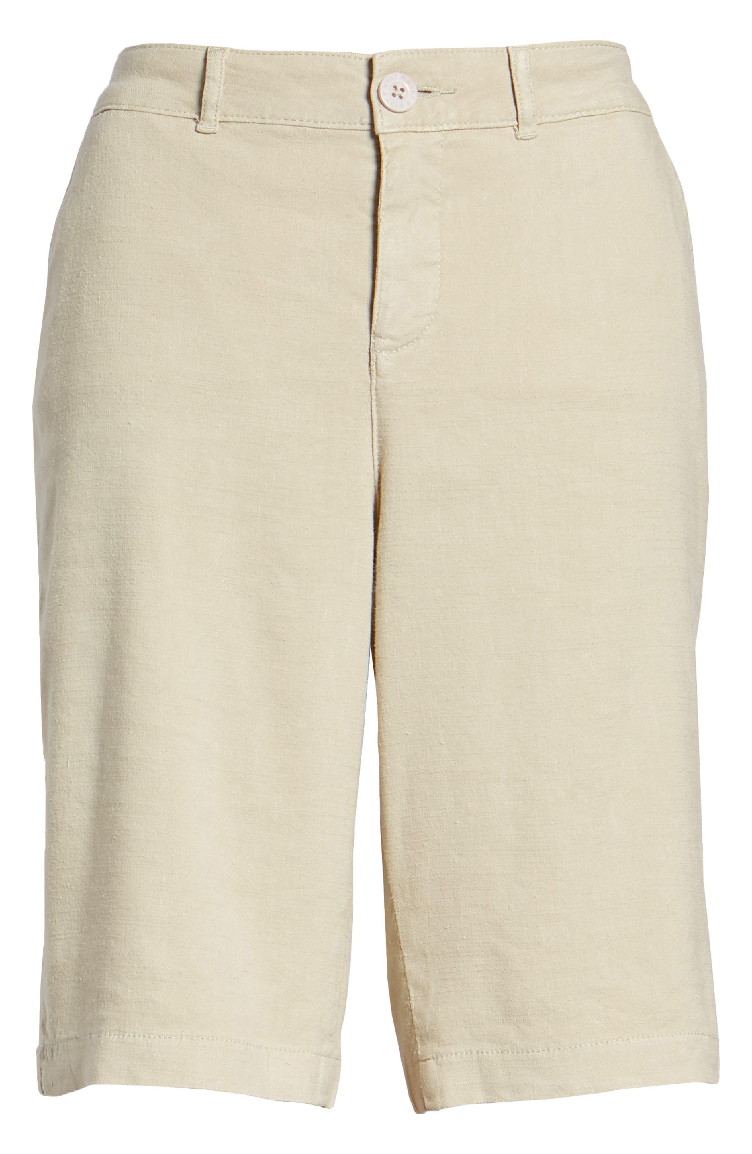Stretch Linen Blend Bermuda Shorts,                             Alternate thumbnail 17, color,