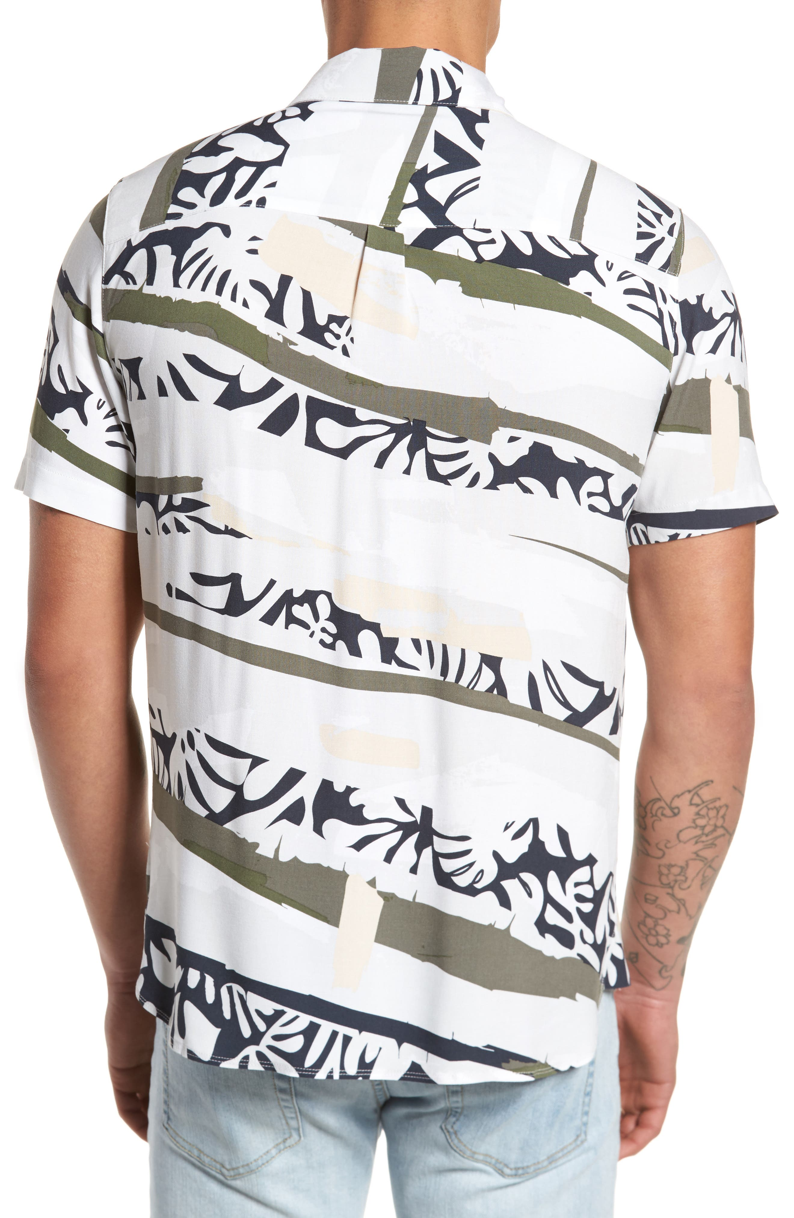 Tropi Camo Woven Shirt,                             Alternate thumbnail 2, color,                             100