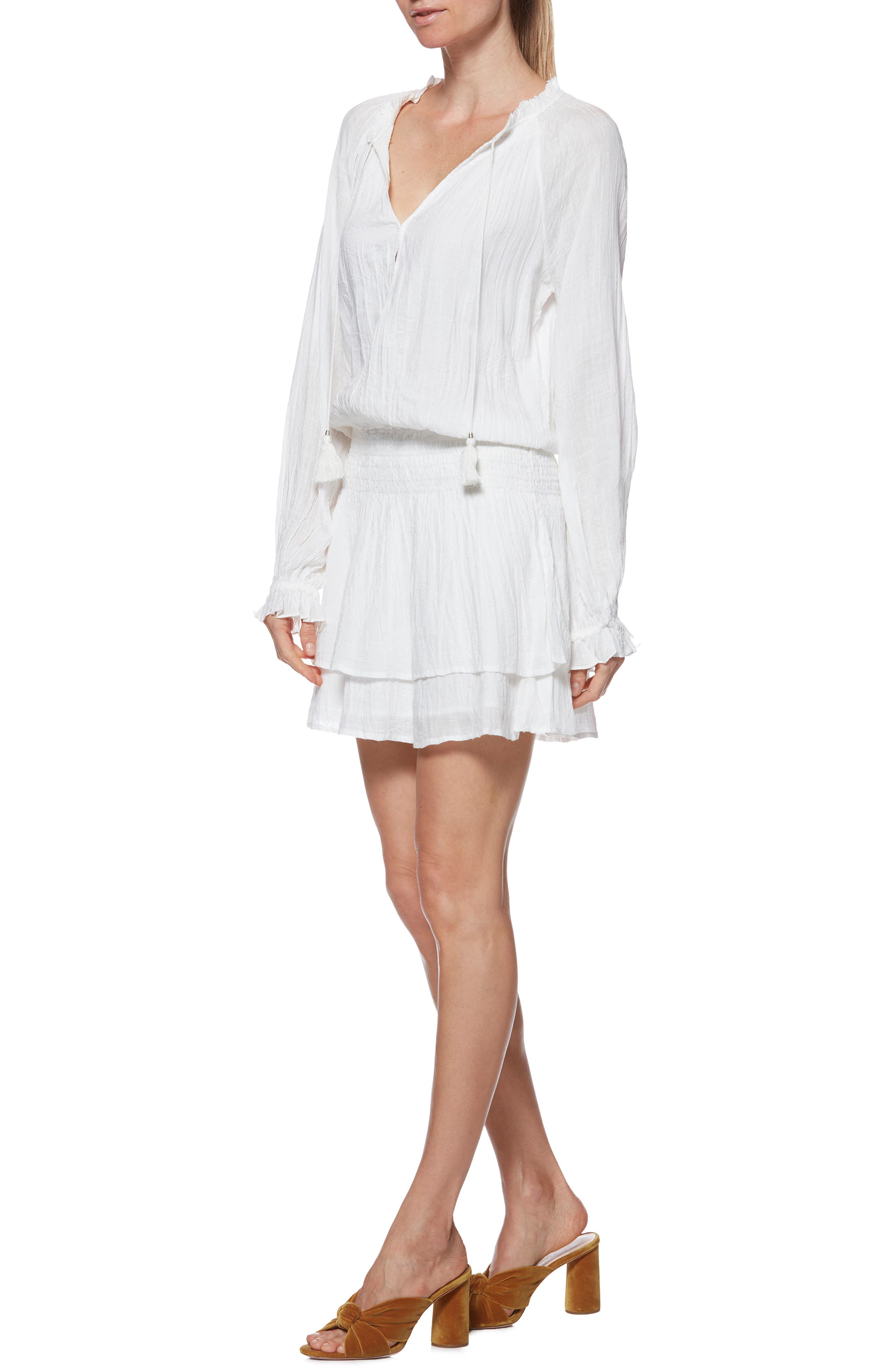 Lemay Dress,                             Alternate thumbnail 3, color,                             WHITE
