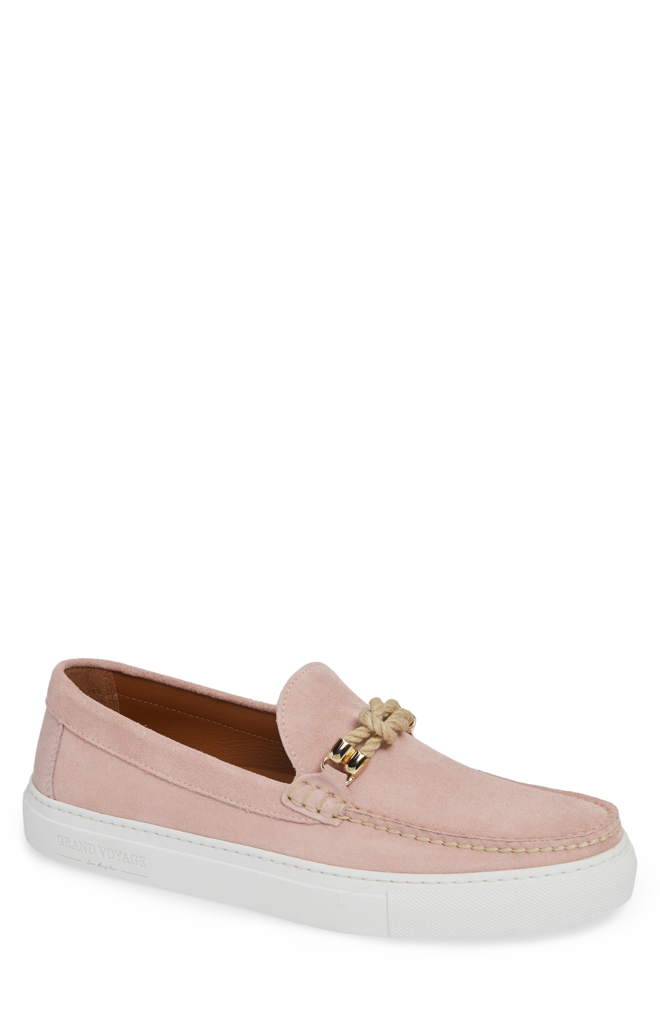 Britton Square Knot Loafer,                             Main thumbnail 1, color,                             ROSE SUEDE