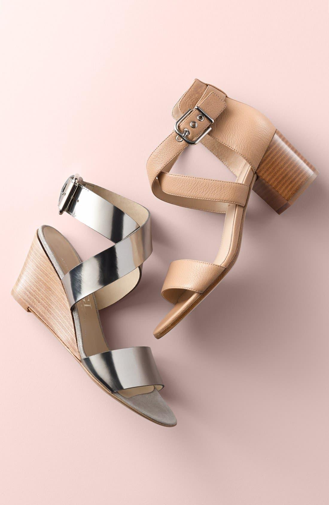 'Jobina' Crisscross Strap Block Heel Sandal,                             Alternate thumbnail 6, color,                             005