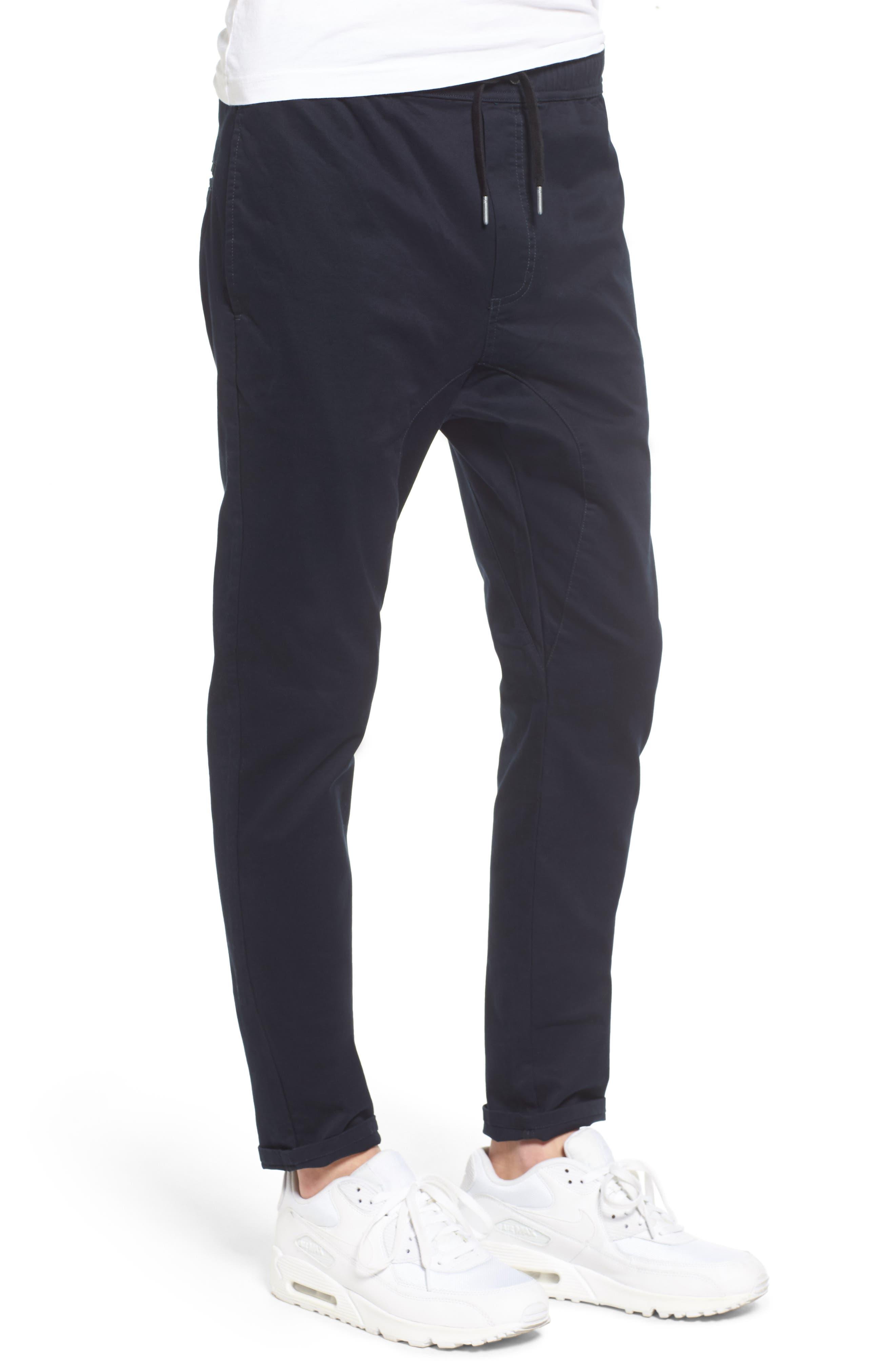 ZANEROBE,                             Salerno Stretch Woven Jogger Pants,                             Alternate thumbnail 3, color,                             NAVY