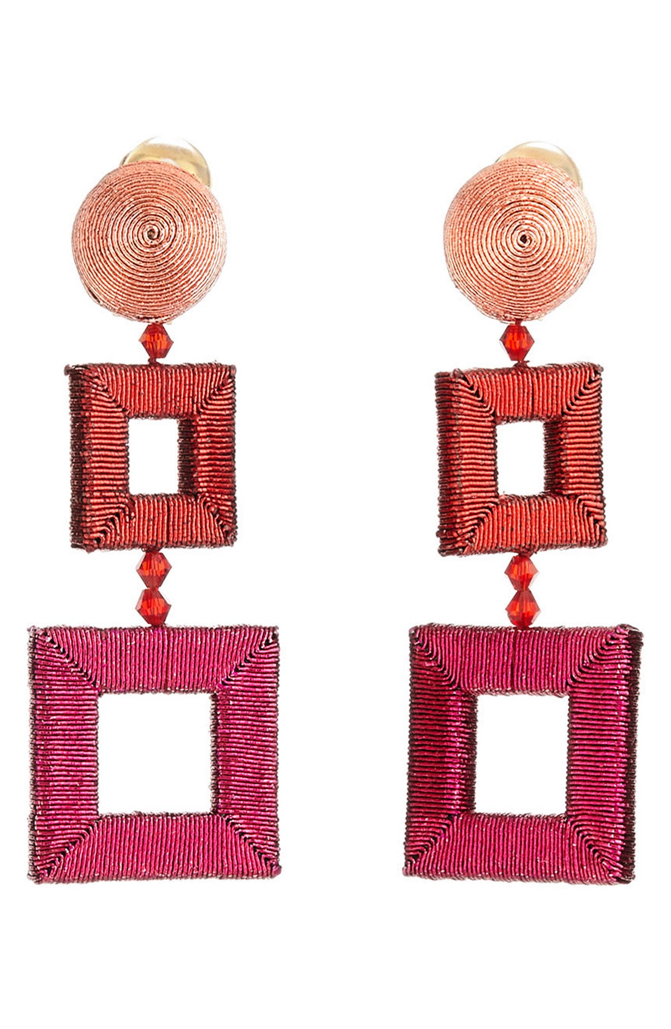 Wrapped Double Drop Earrings,                             Main thumbnail 1, color,                             680