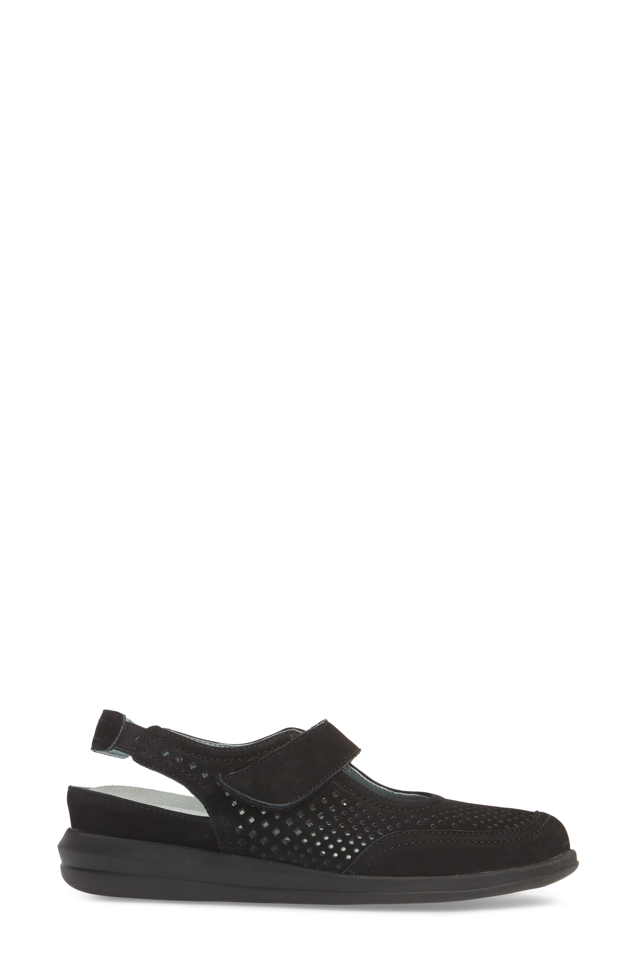 Clever Slingback Sneaker,                             Alternate thumbnail 3, color,                             BLACK NUBUCK