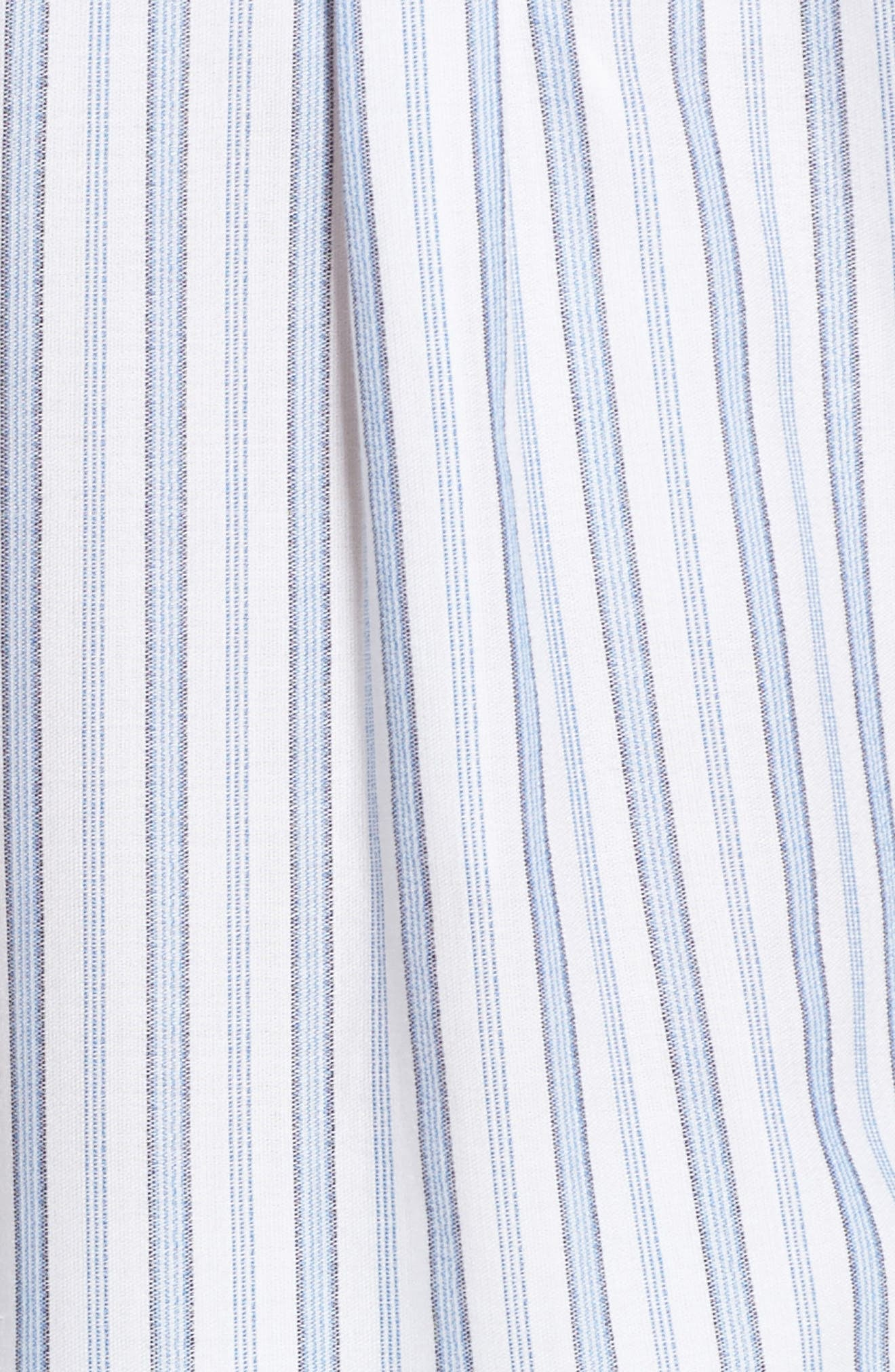 Ticking Stripe Cover-Up Shirtdress,                             Alternate thumbnail 5, color,                             100
