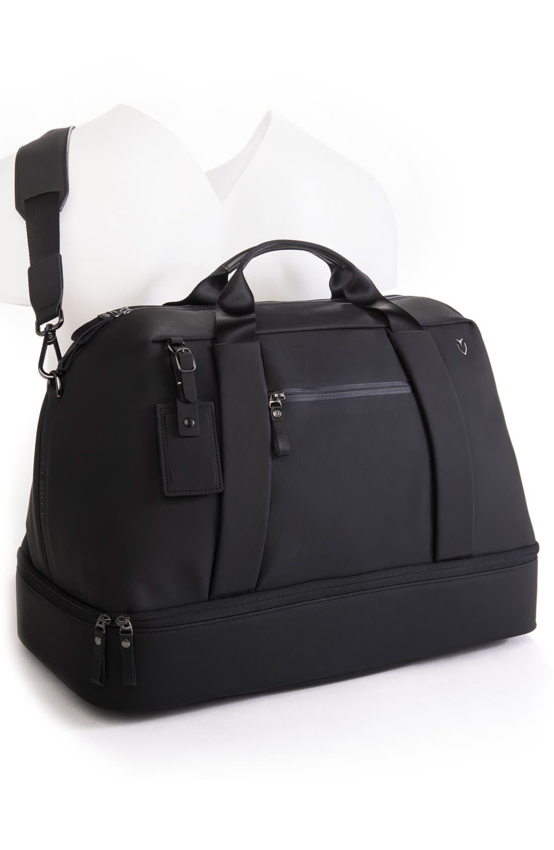 Signature Large Boston Duffel Bag,                             Alternate thumbnail 2, color,                             MATTE BLACK