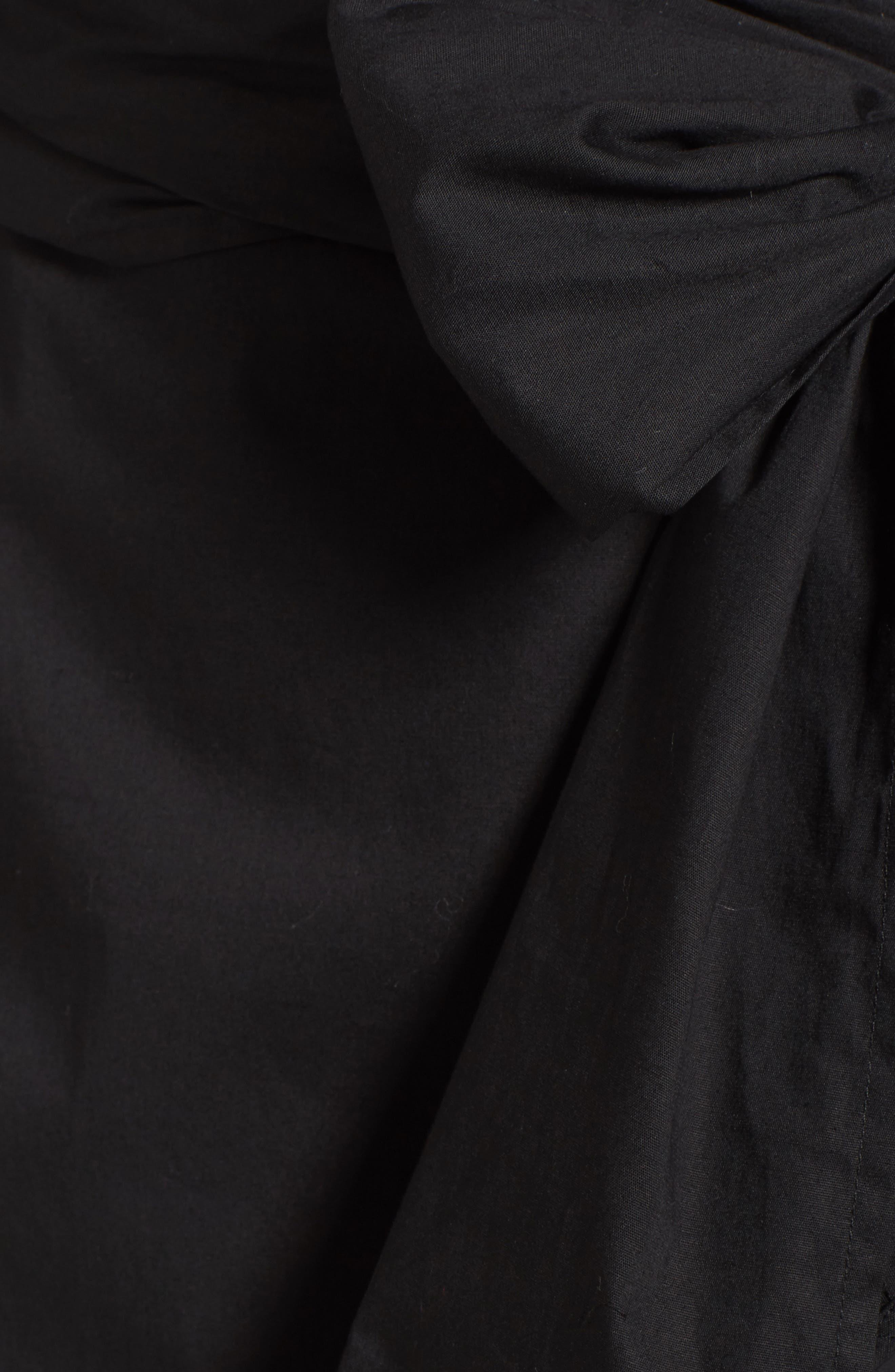 Wrap Bell Sleeve Dress,                             Alternate thumbnail 5, color,                             001