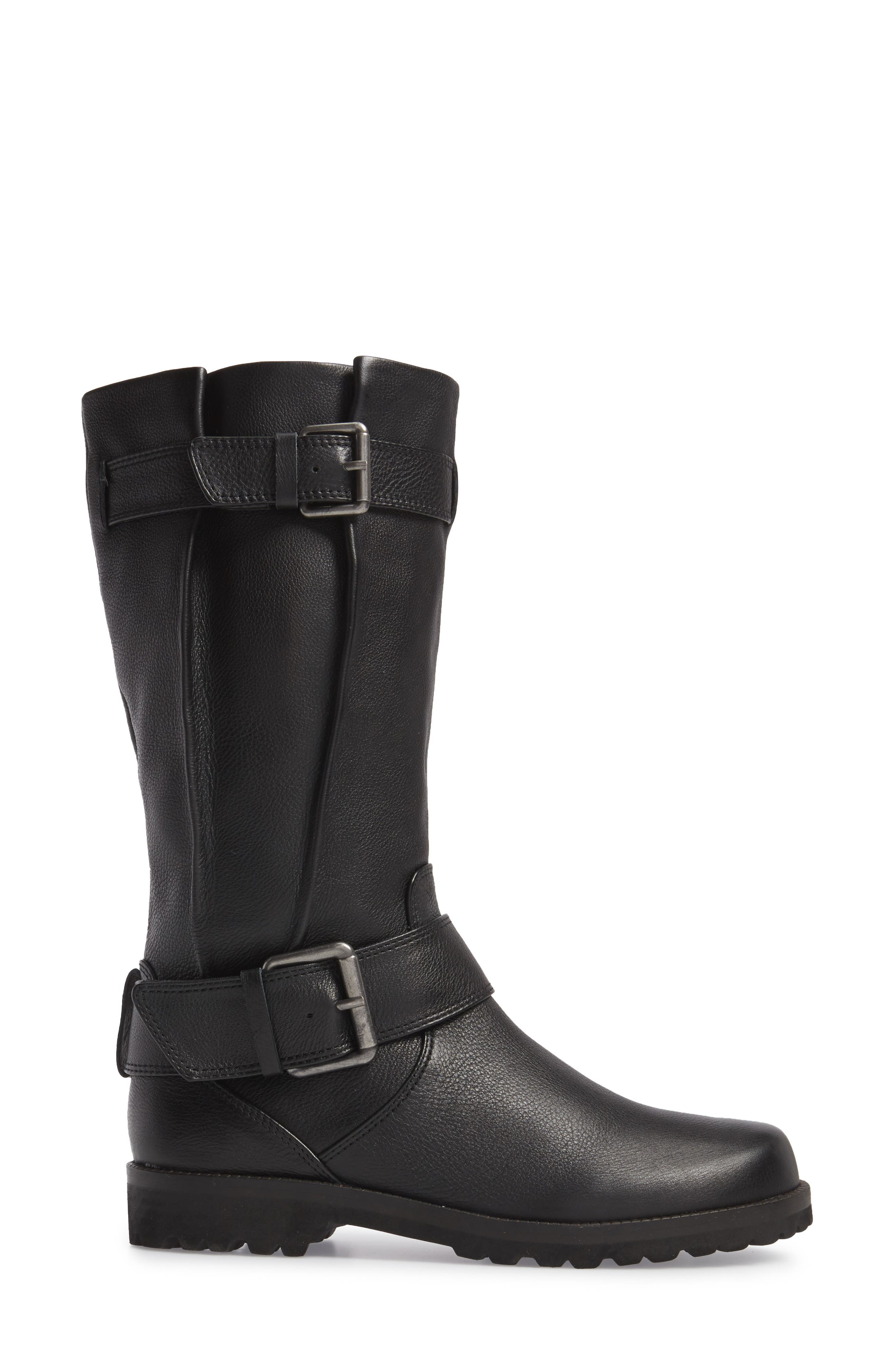 by Kenneth Cole 'Buckled Up' Boot,                             Alternate thumbnail 4, color,                             BLACK