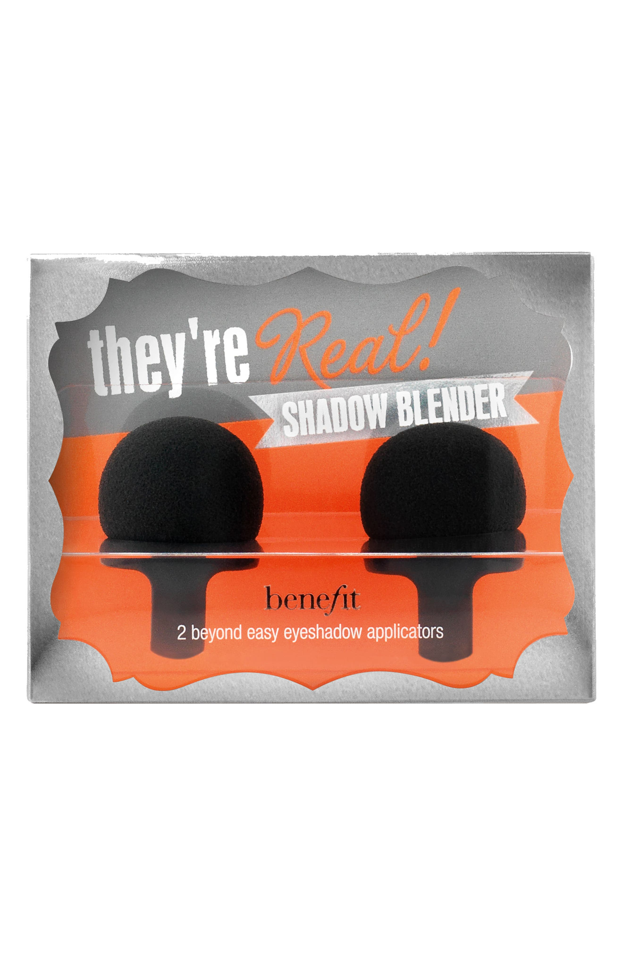 Benefit They're Real! ShadowBlender Duo Beyond Easy Eyeshadow Applicators,                             Main thumbnail 1, color,                             NO COLOR