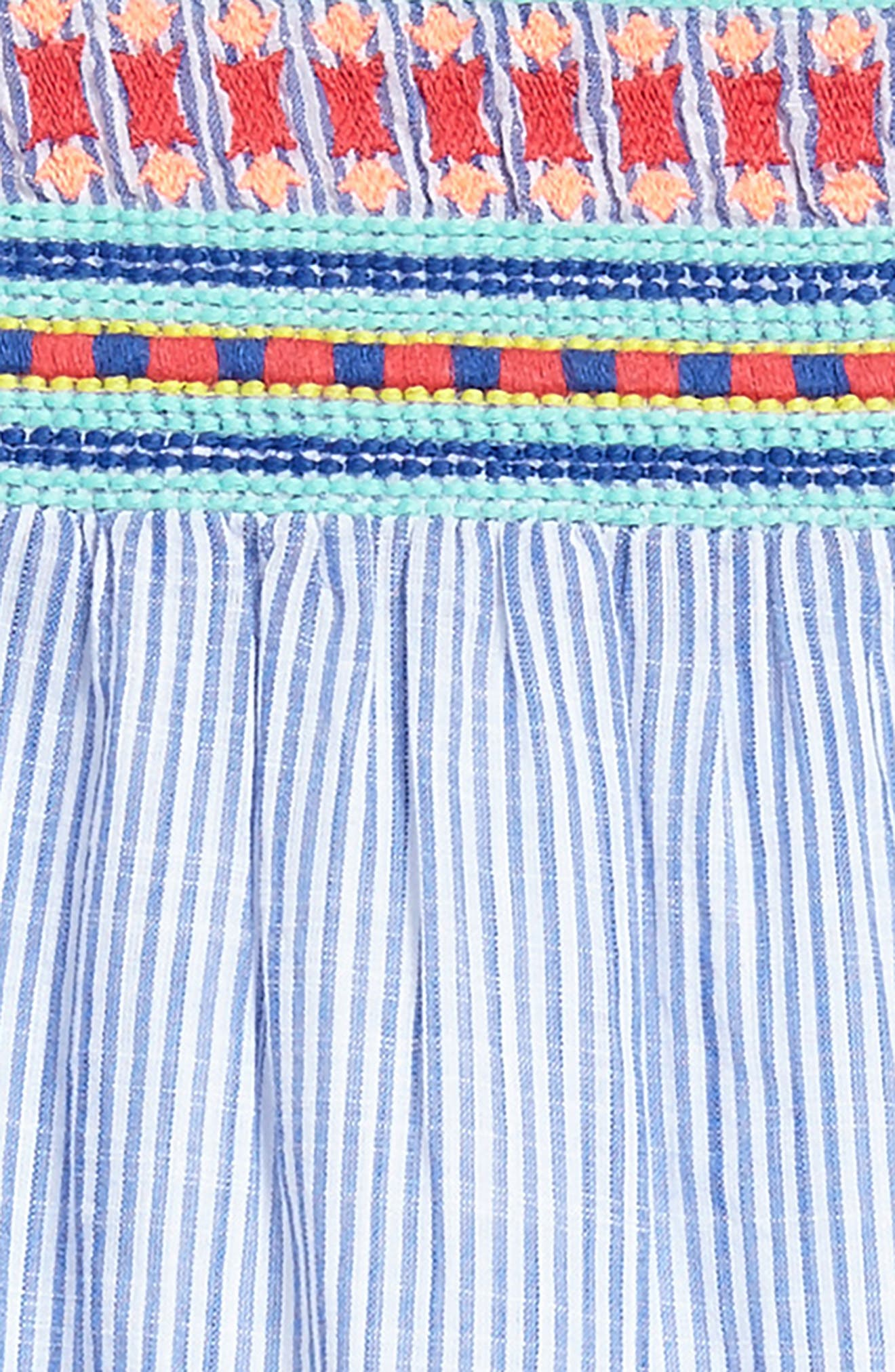 Embroidered Flutter Dress,                             Alternate thumbnail 3, color,                             400