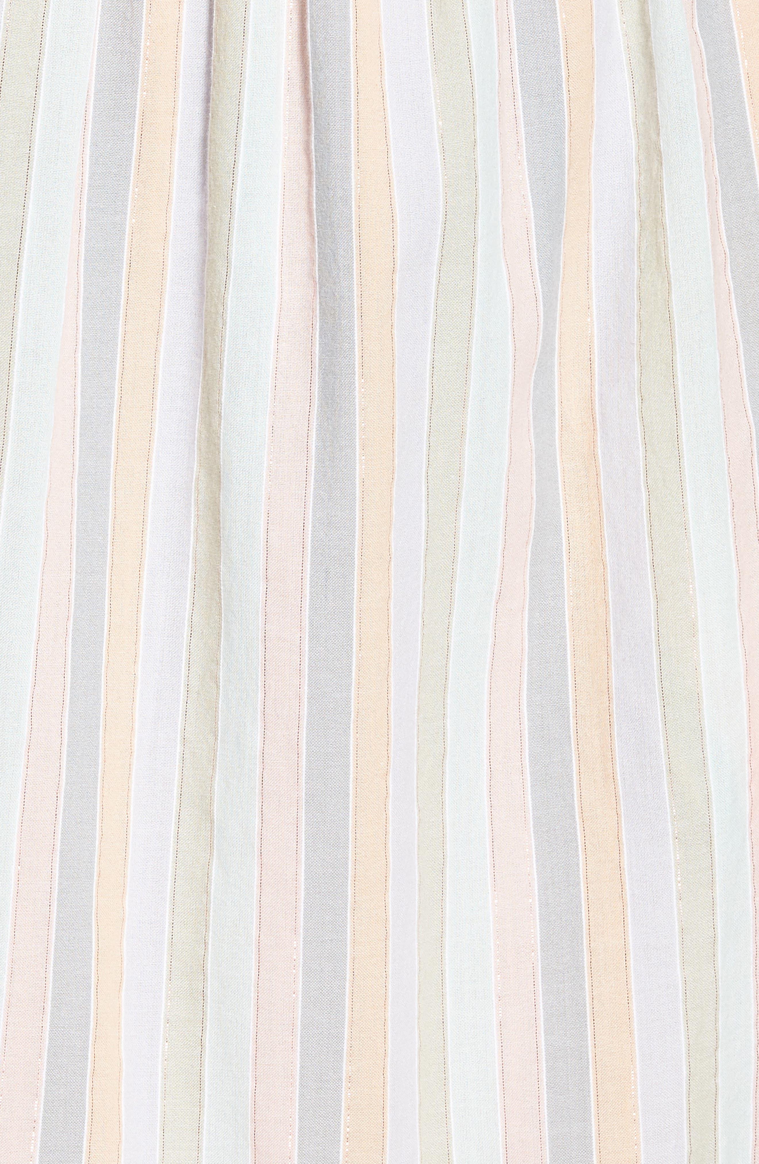 Pastel Stripe Dress,                             Alternate thumbnail 5, color,                             950