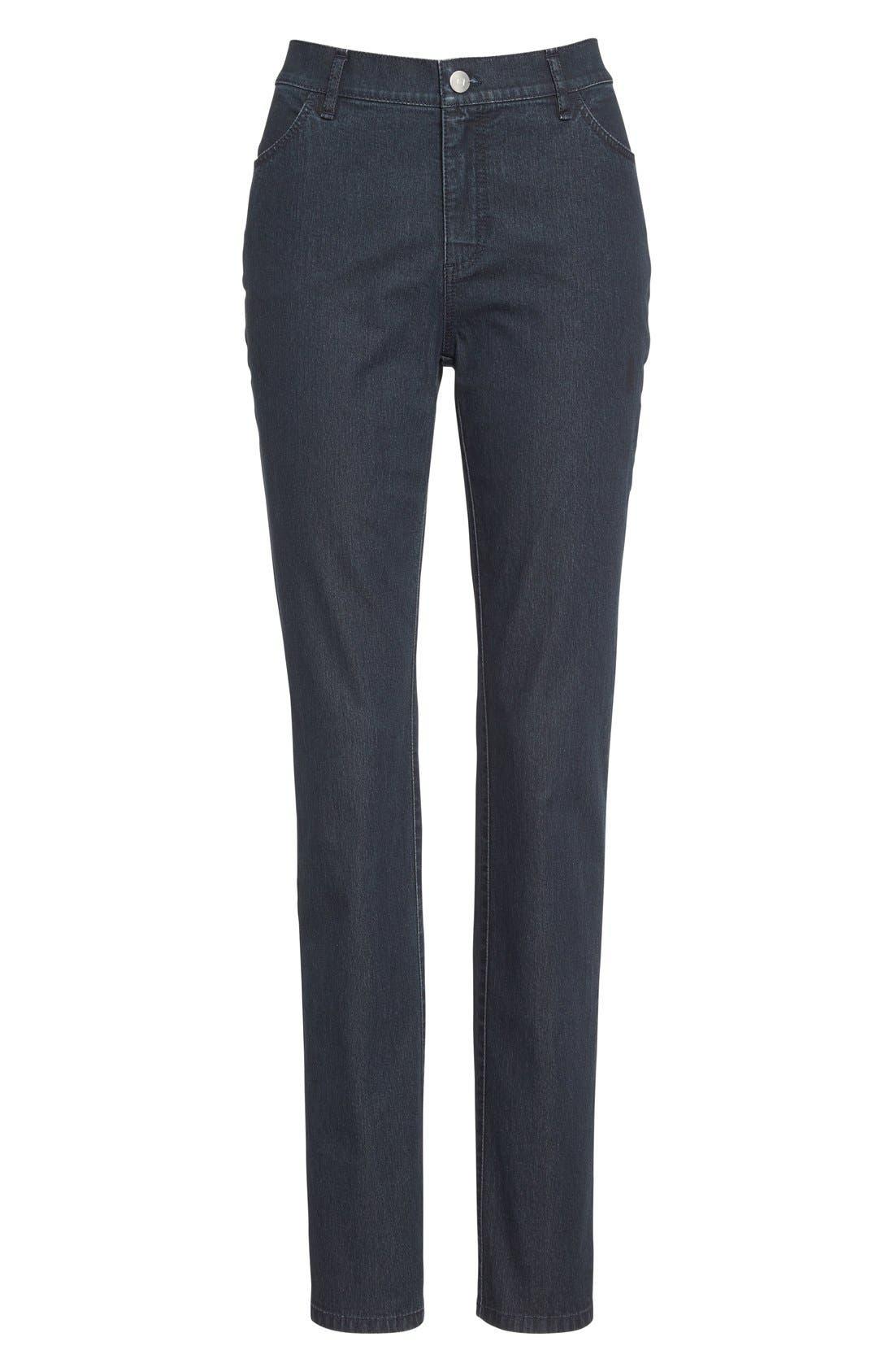 'Primo Denim' Curvy Fit Slim Leg Jeans,                             Alternate thumbnail 7, color,                             INDIGO