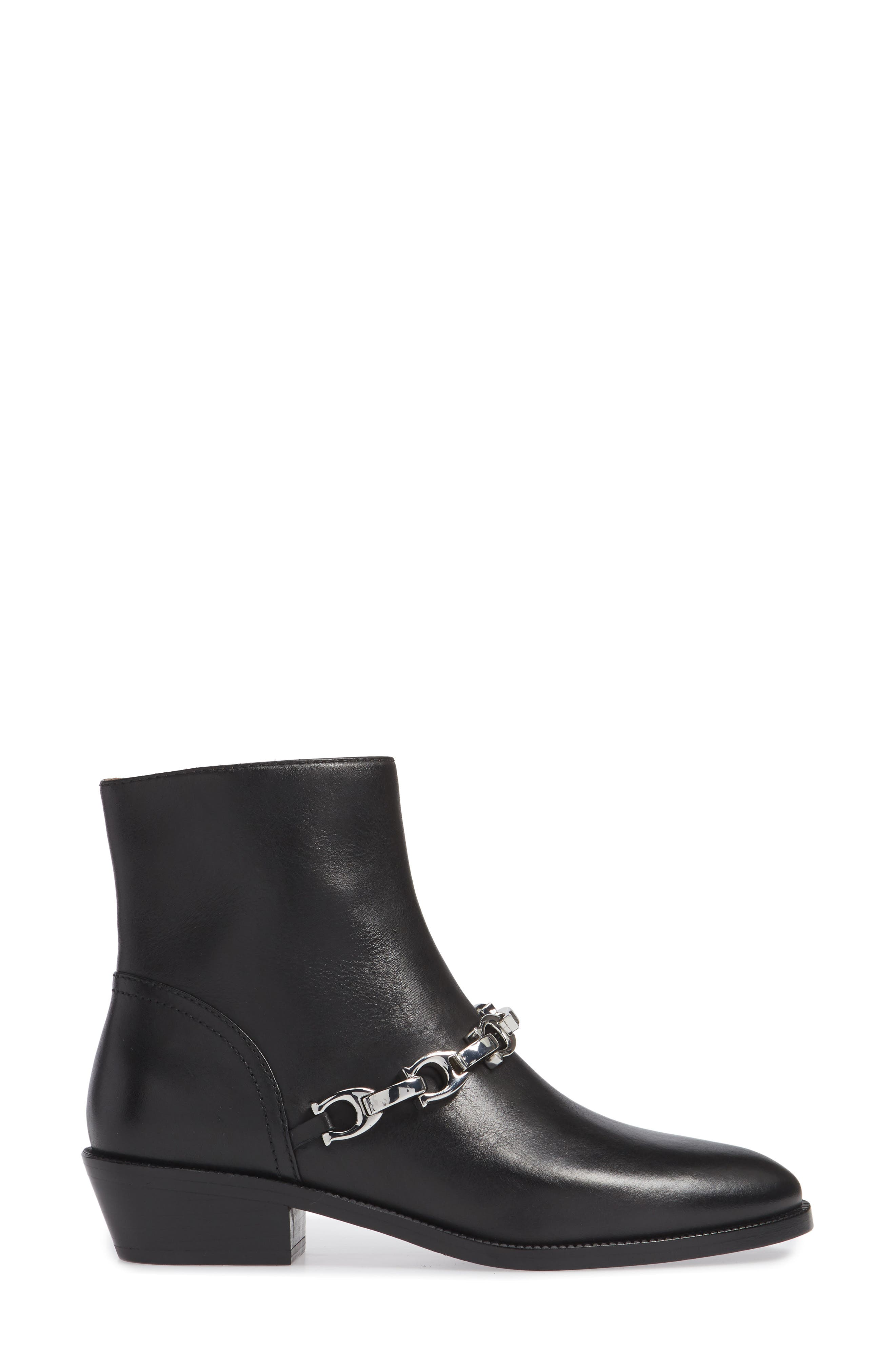 Allen Bootie,                             Alternate thumbnail 3, color,                             BLACK LEATHER