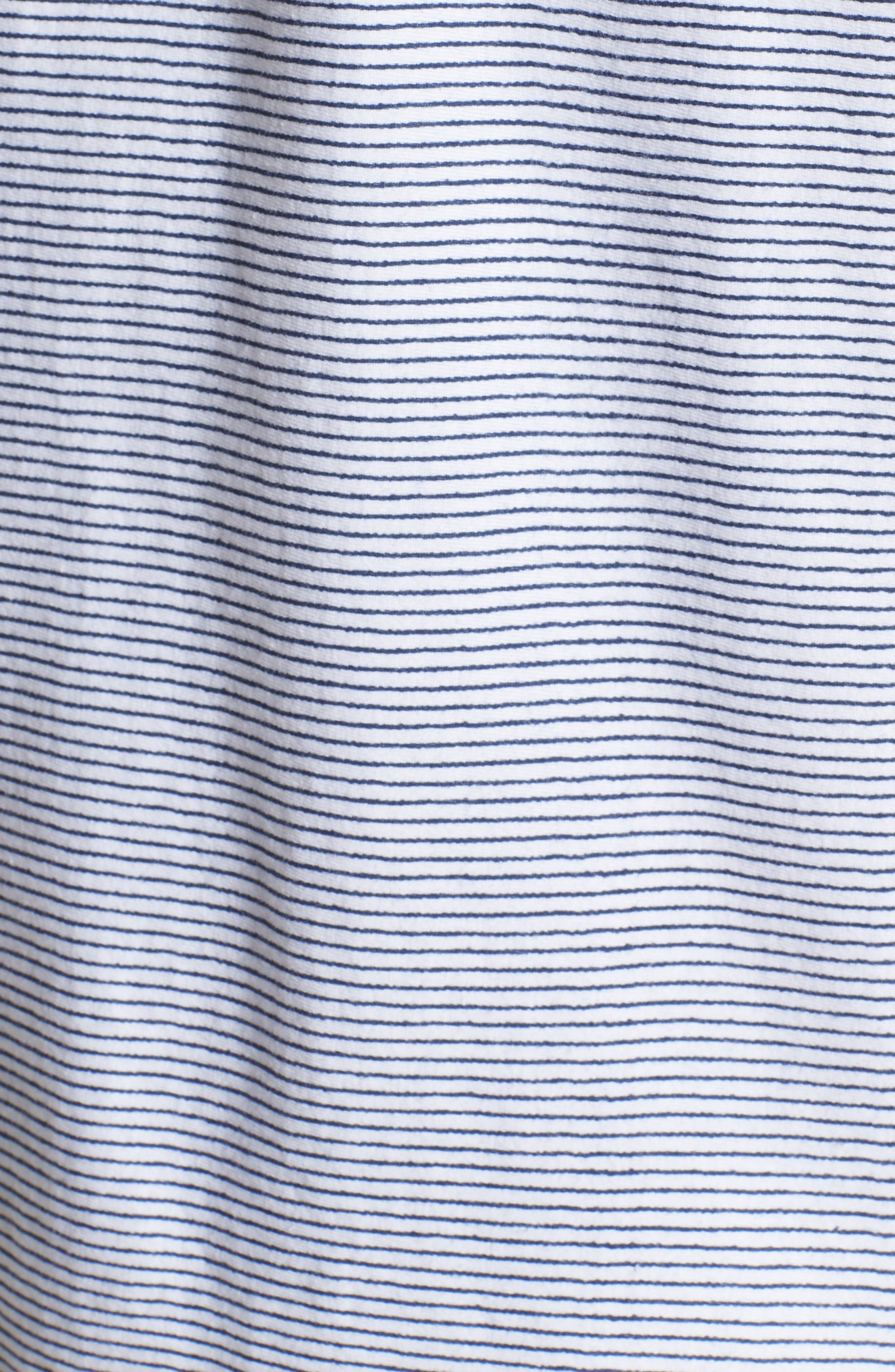Pinstripe Pocket T-Shirt,                             Alternate thumbnail 5, color,