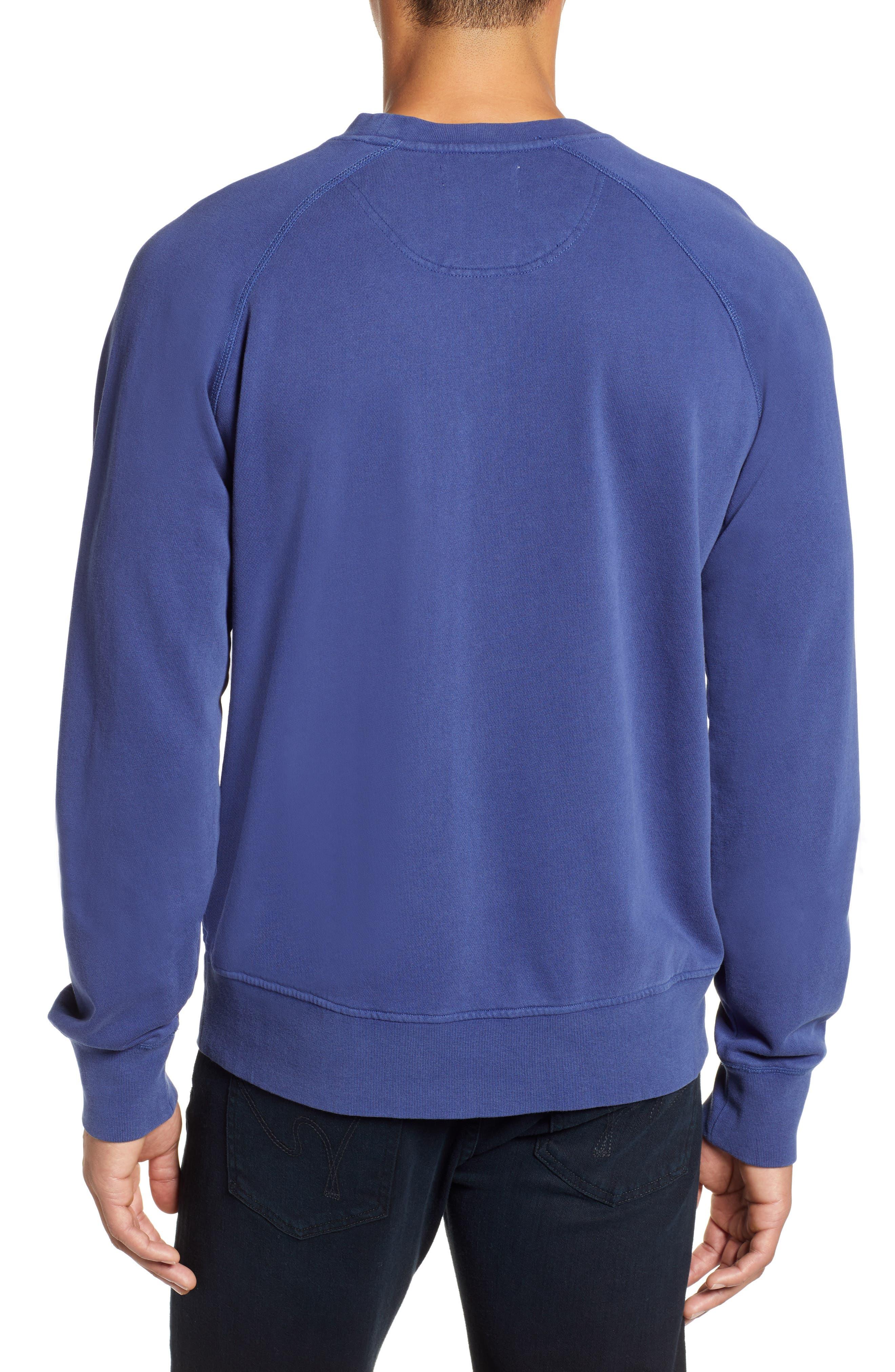 Dunham Crewneck Sweatshirt,                             Alternate thumbnail 2, color,                             BLUE PRINT
