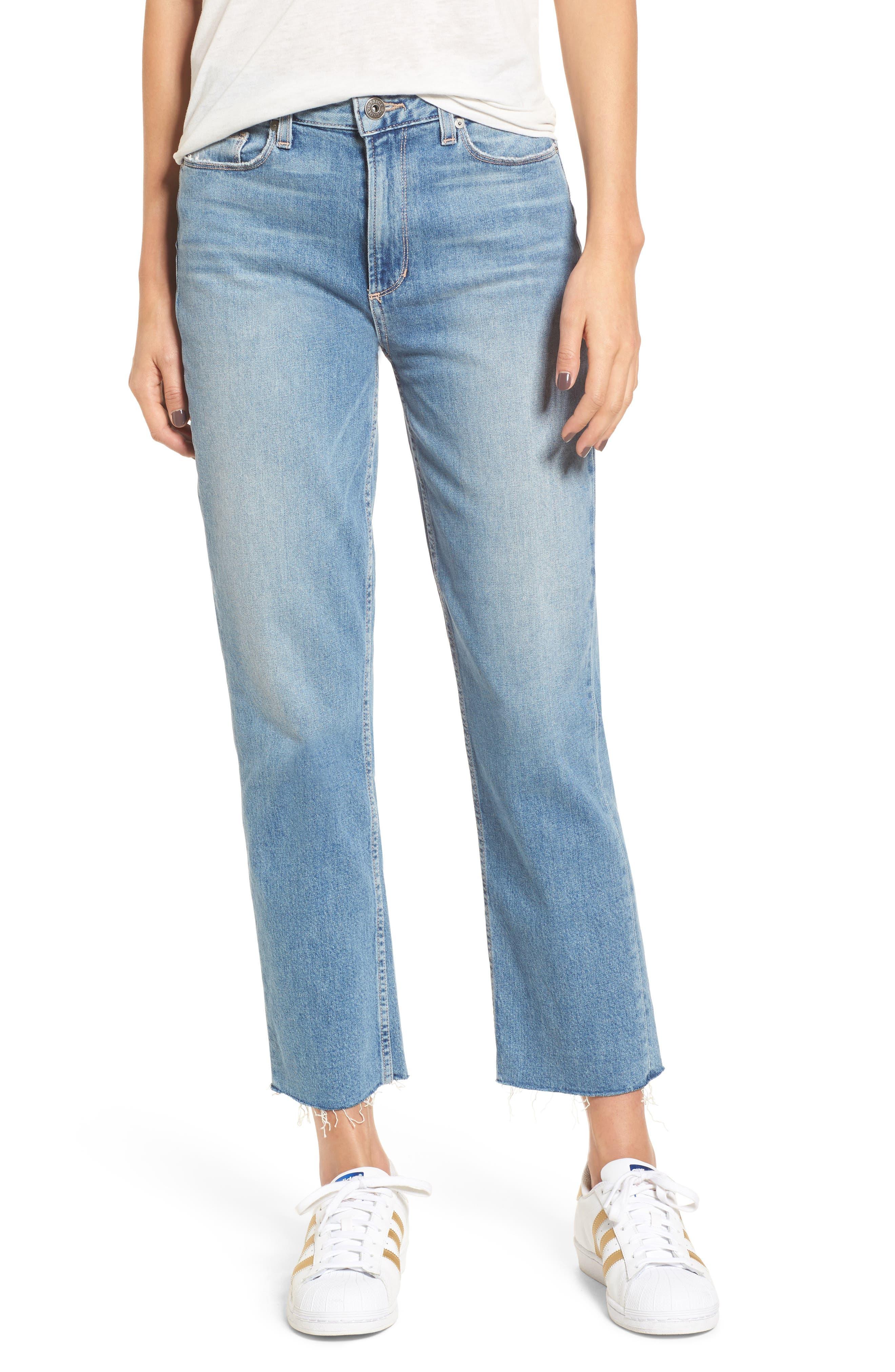 Vintage - Sarah High Waist Crop Straight Leg Jeans,                             Main thumbnail 1, color,                             400