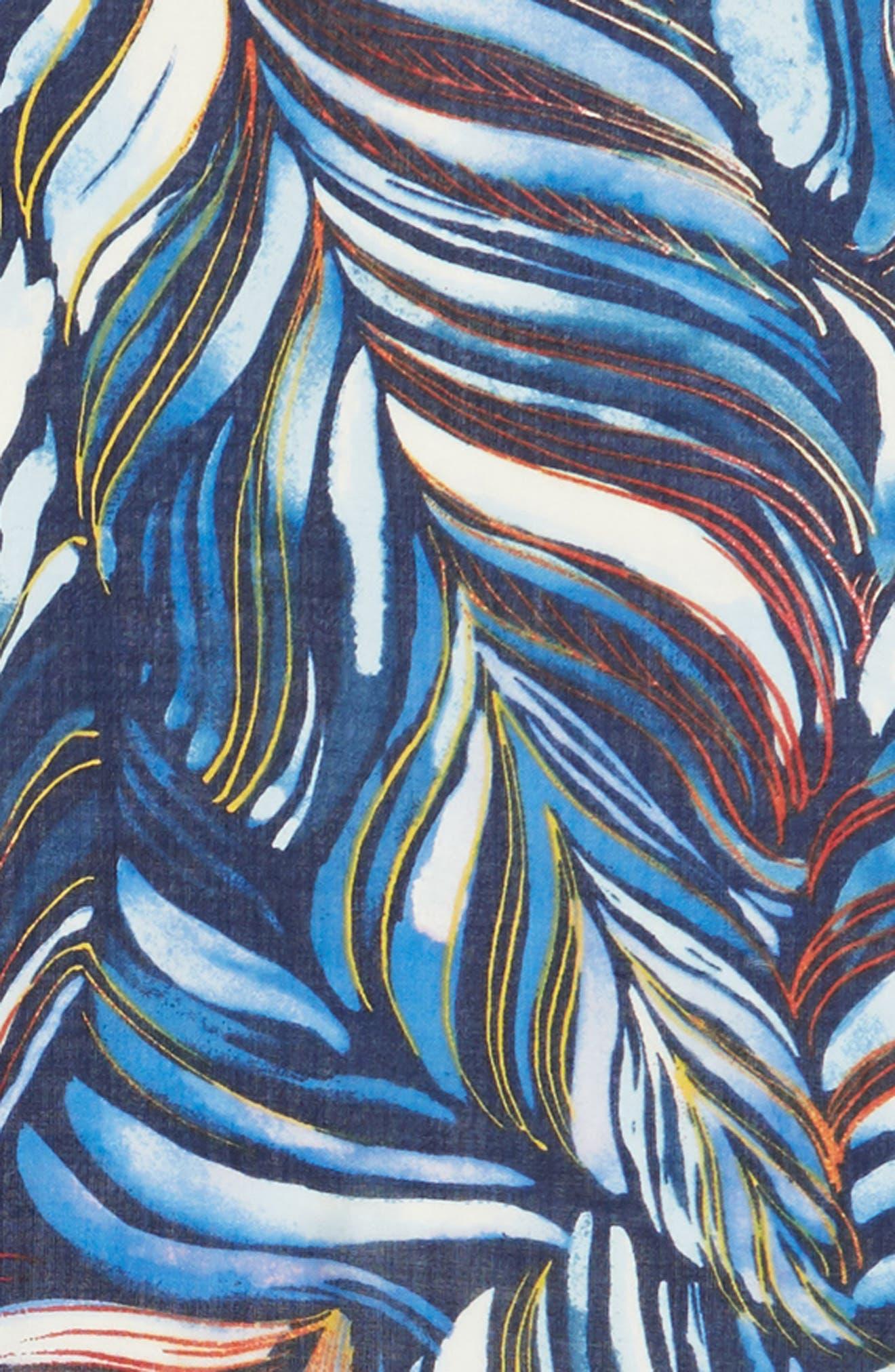 Eyelash Trim Print Cashmere & Silk Wrap,                             Alternate thumbnail 98, color,