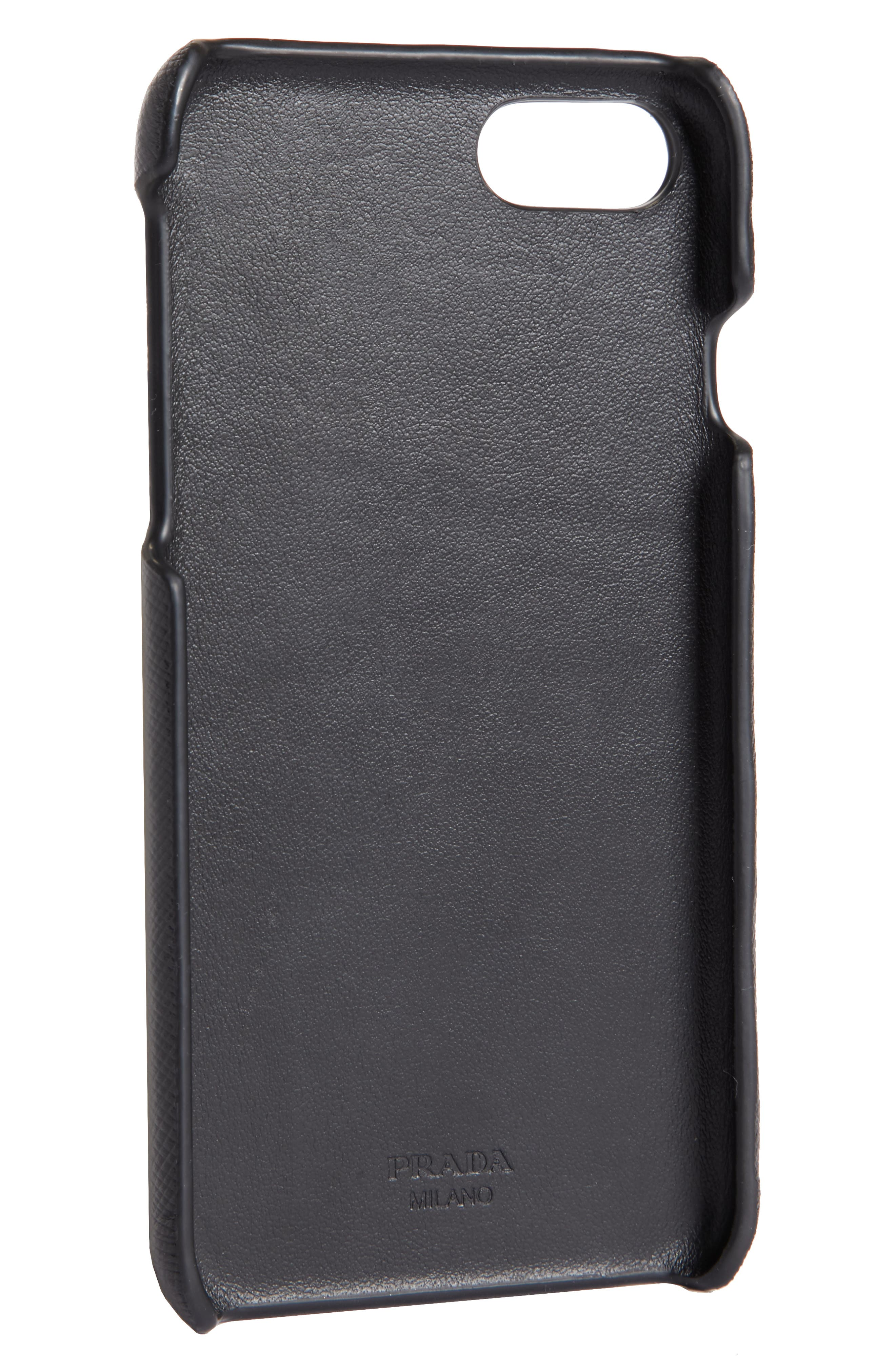 Saffiano Leather iPhone 6/6s/7/8 Case,                             Alternate thumbnail 2, color,                             NERO