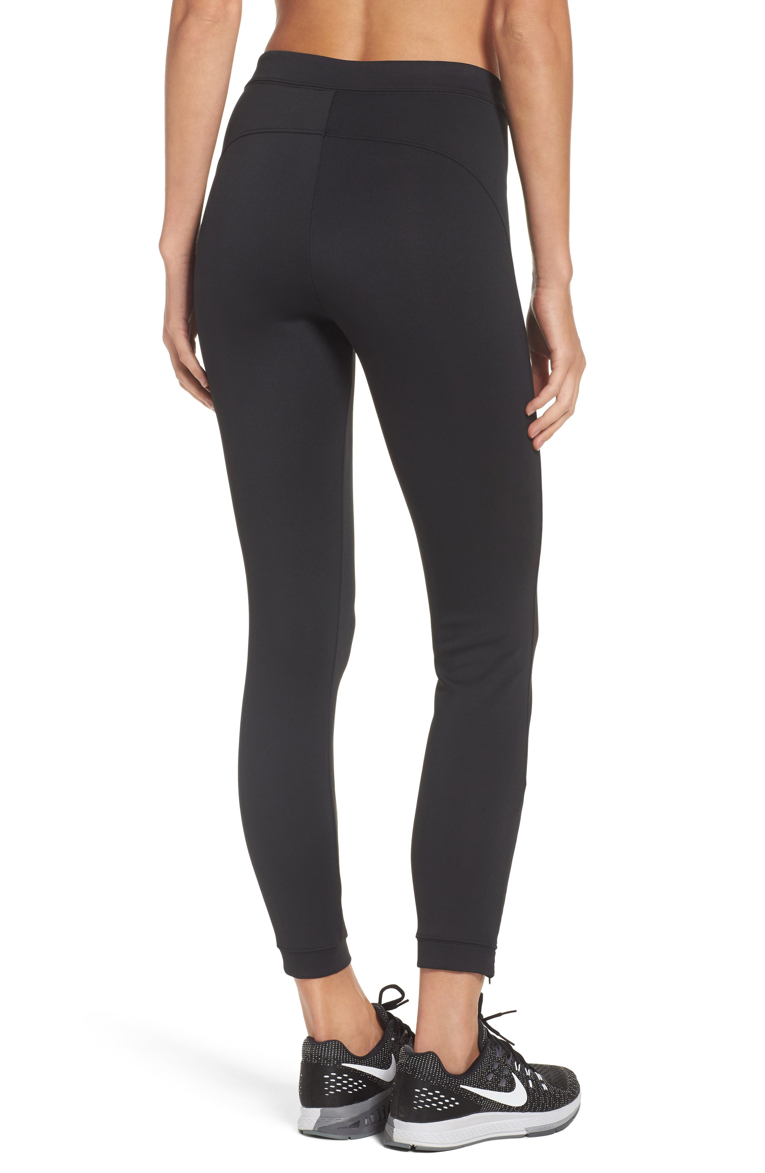 Zip Ankle Leggings,                             Alternate thumbnail 2, color,                             010