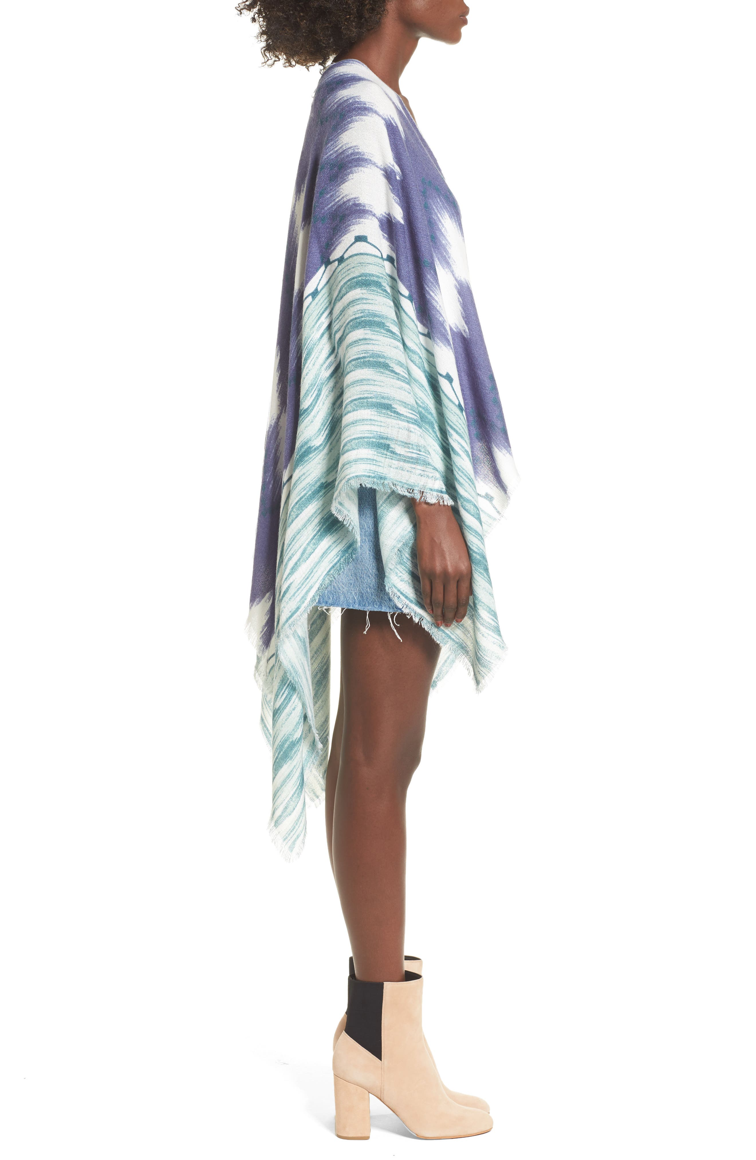 Ikat Kimono Scarf,                             Alternate thumbnail 3, color,