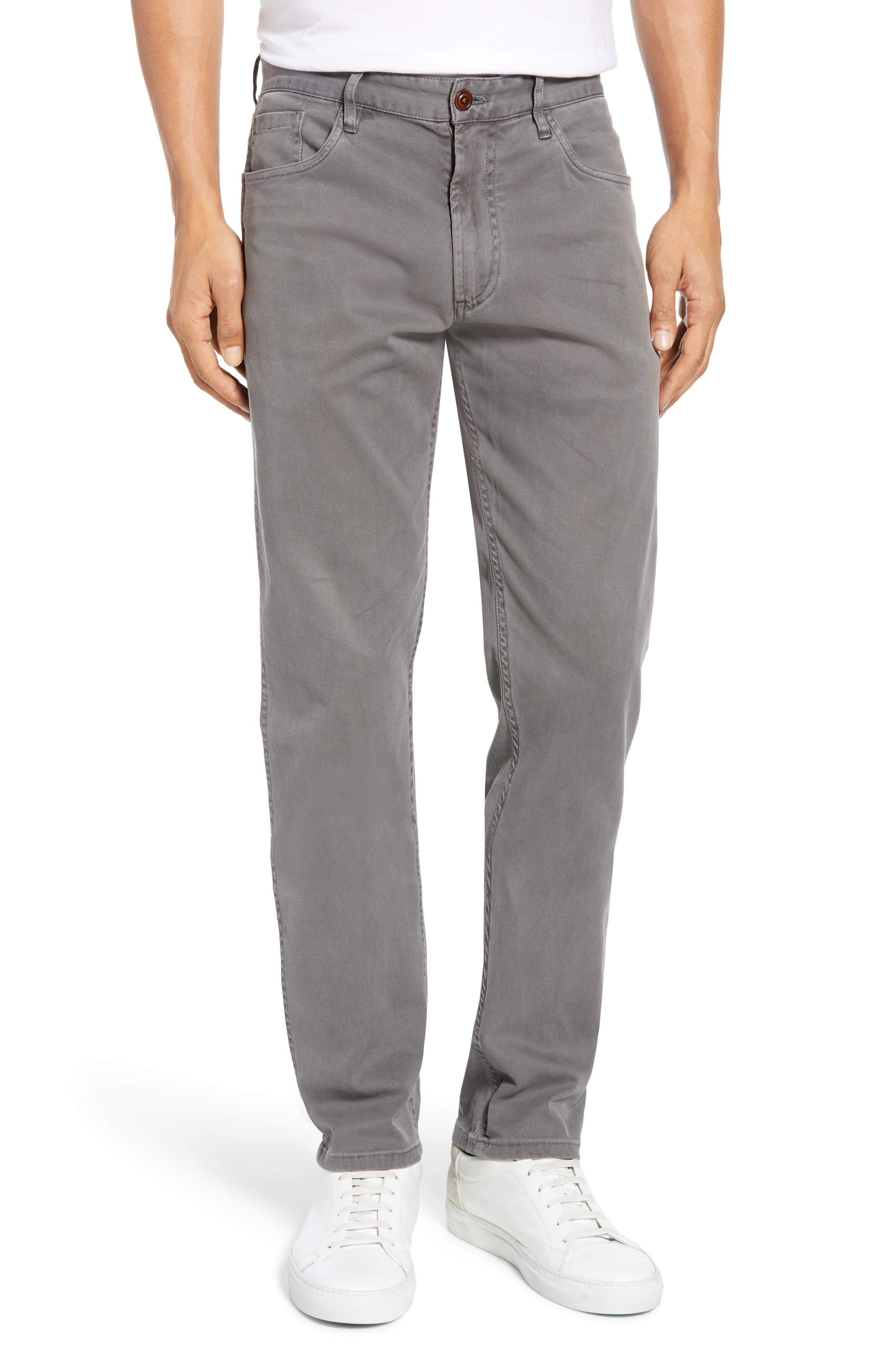 Faherty Comfort Twill 5-Pocket Pants, Grey