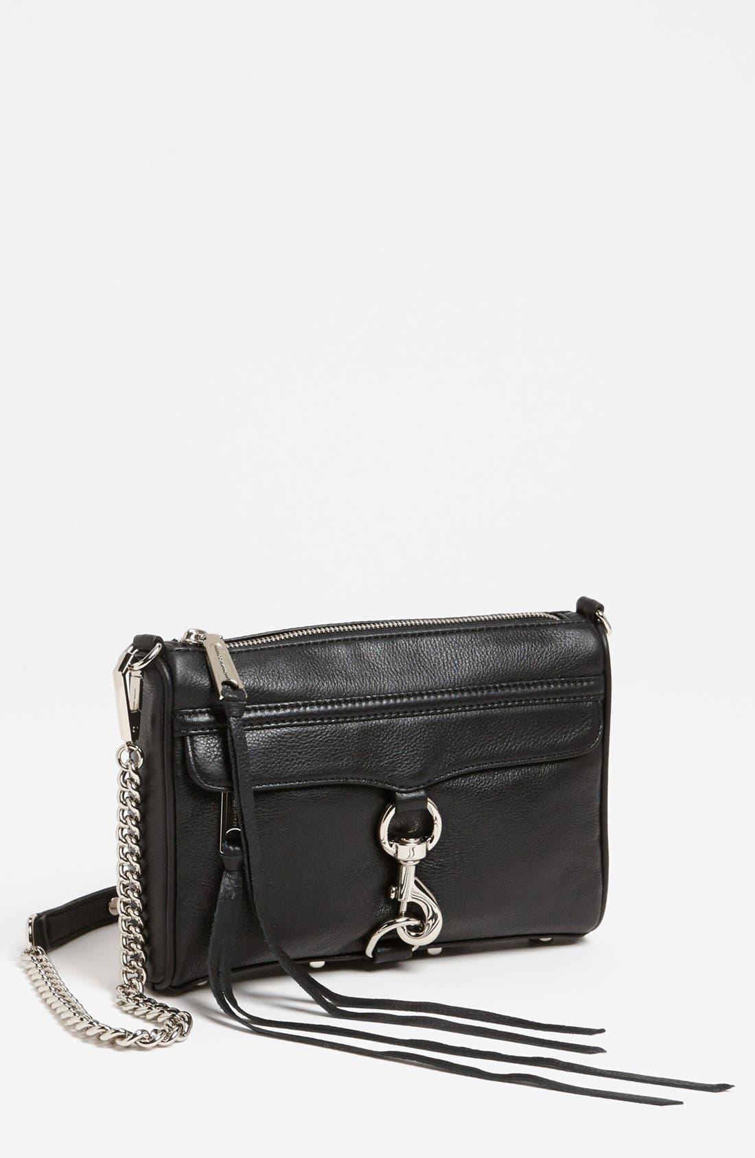 'Mini MAC' Convertible Crossbody Bag,                             Main thumbnail 1, color,                             001