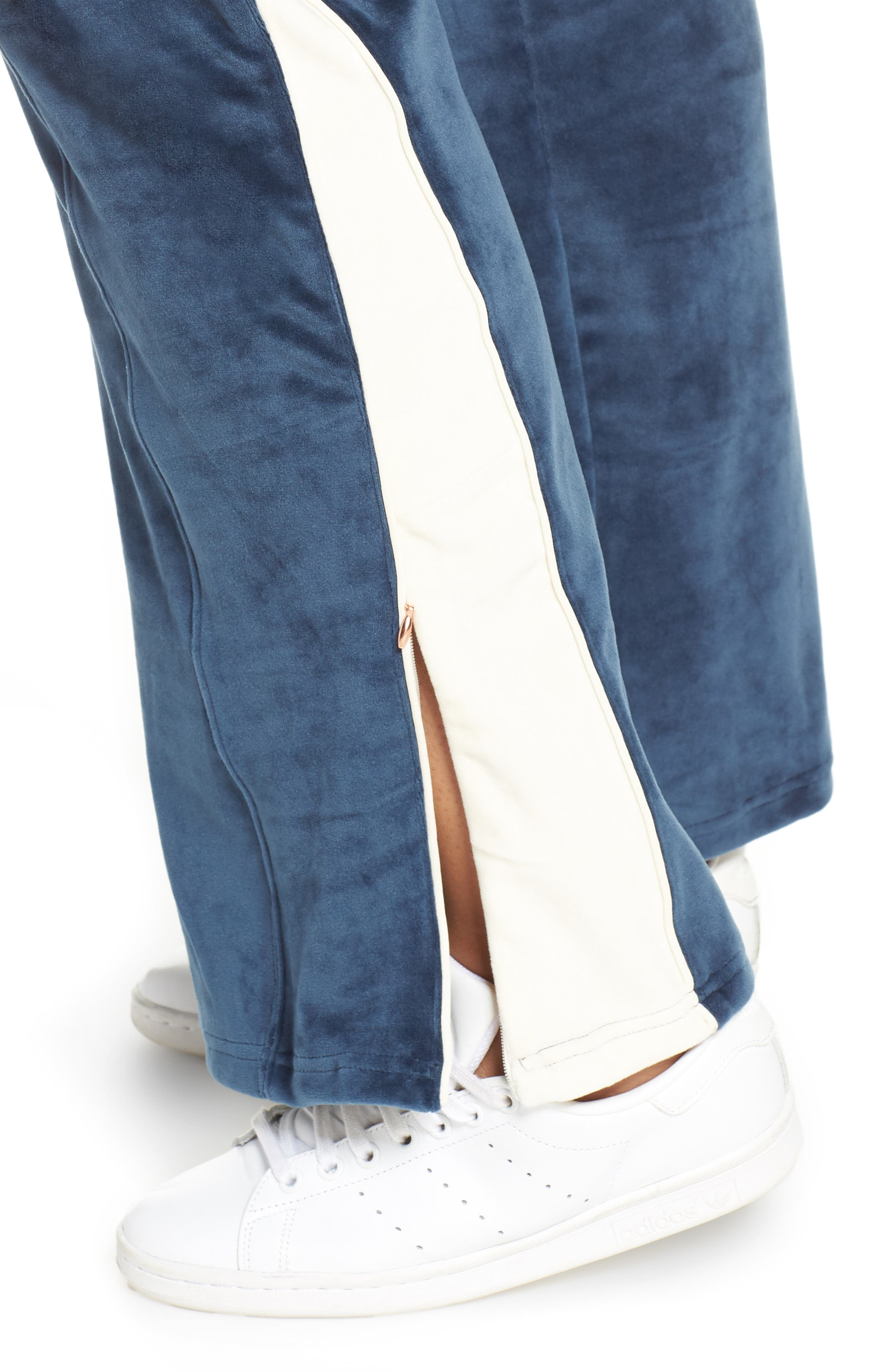 SHAPE ACTIVEWEAR,                             Techno Velour Track Pants,                             Alternate thumbnail 4, color,                             INSIGNIA