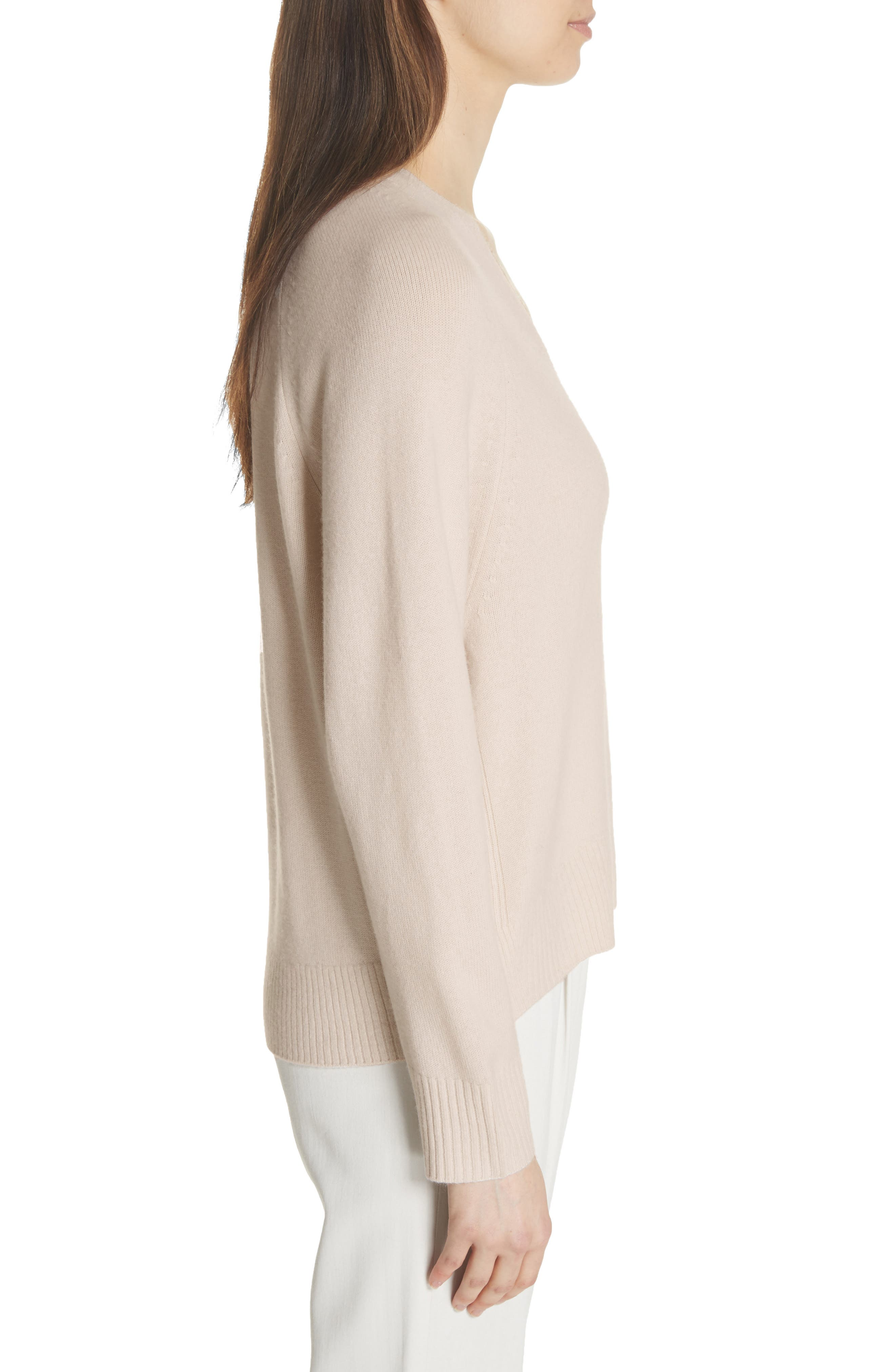 Cashmere Raglan Sleeve Sweater,                             Alternate thumbnail 3, color,                             SANDSTONE