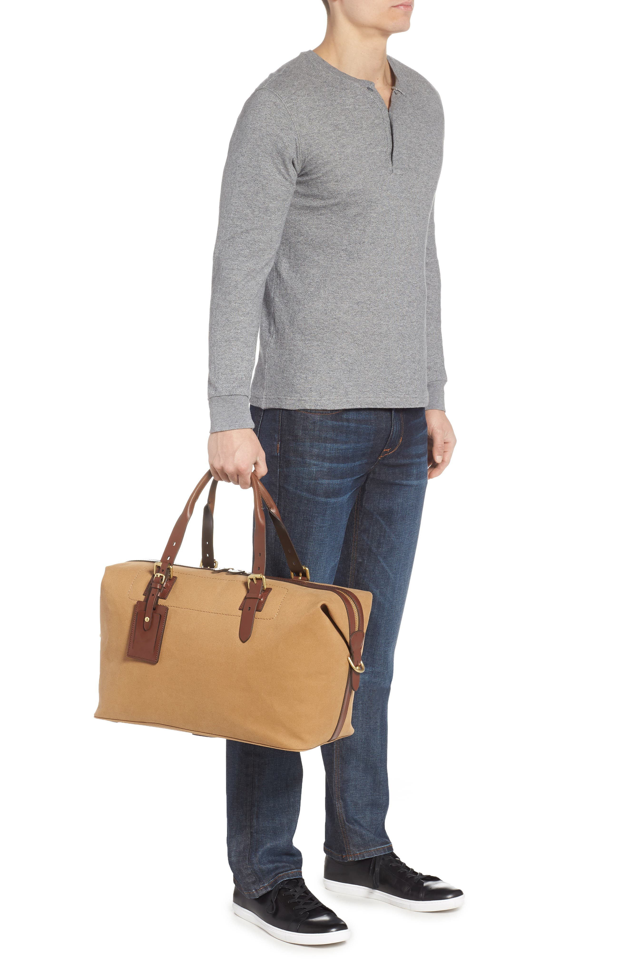 Canvas Duffel Bag,                             Alternate thumbnail 2, color,                             ICED COFFEE