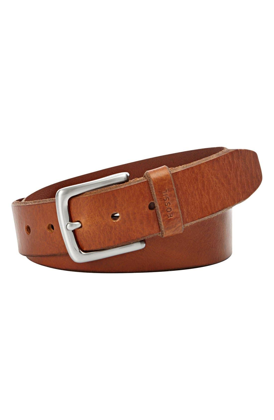 'Joe' Leather Belt,                         Main,                         color, 242