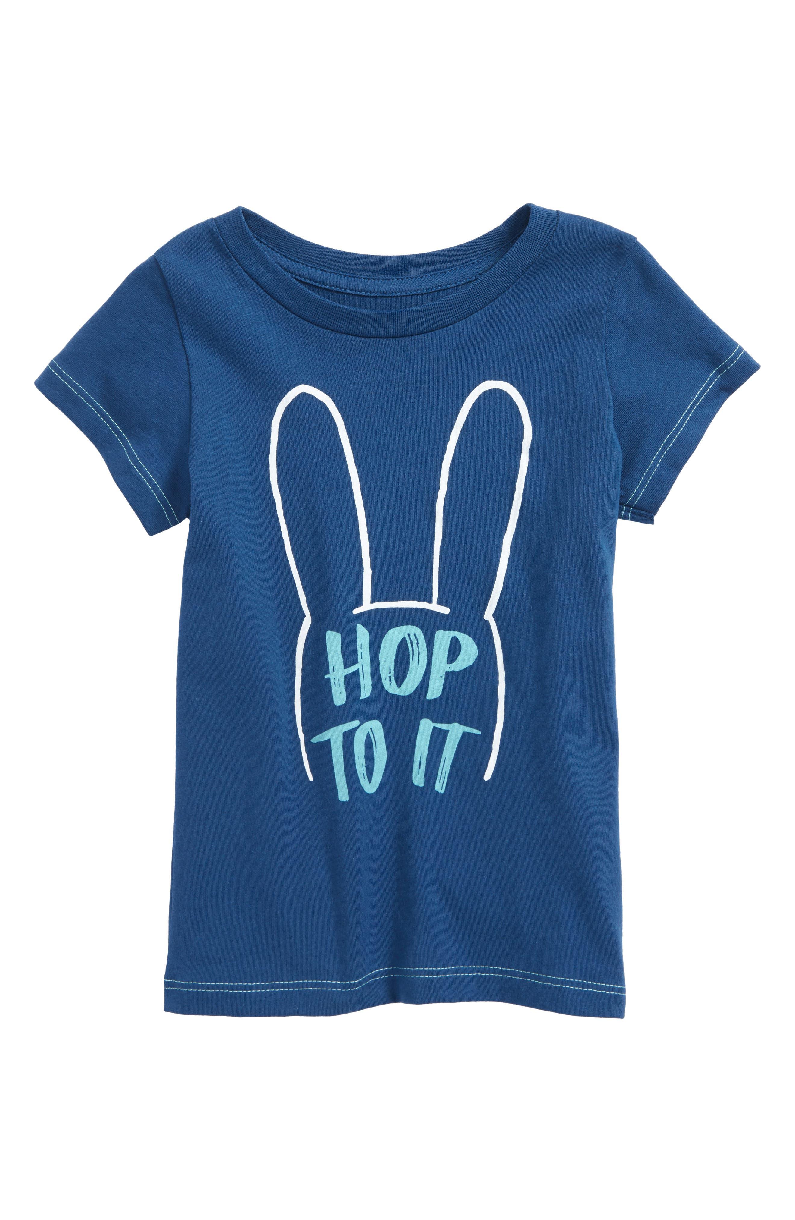 Peek Hop To It Graphic T-Shirt,                             Main thumbnail 1, color,                             440