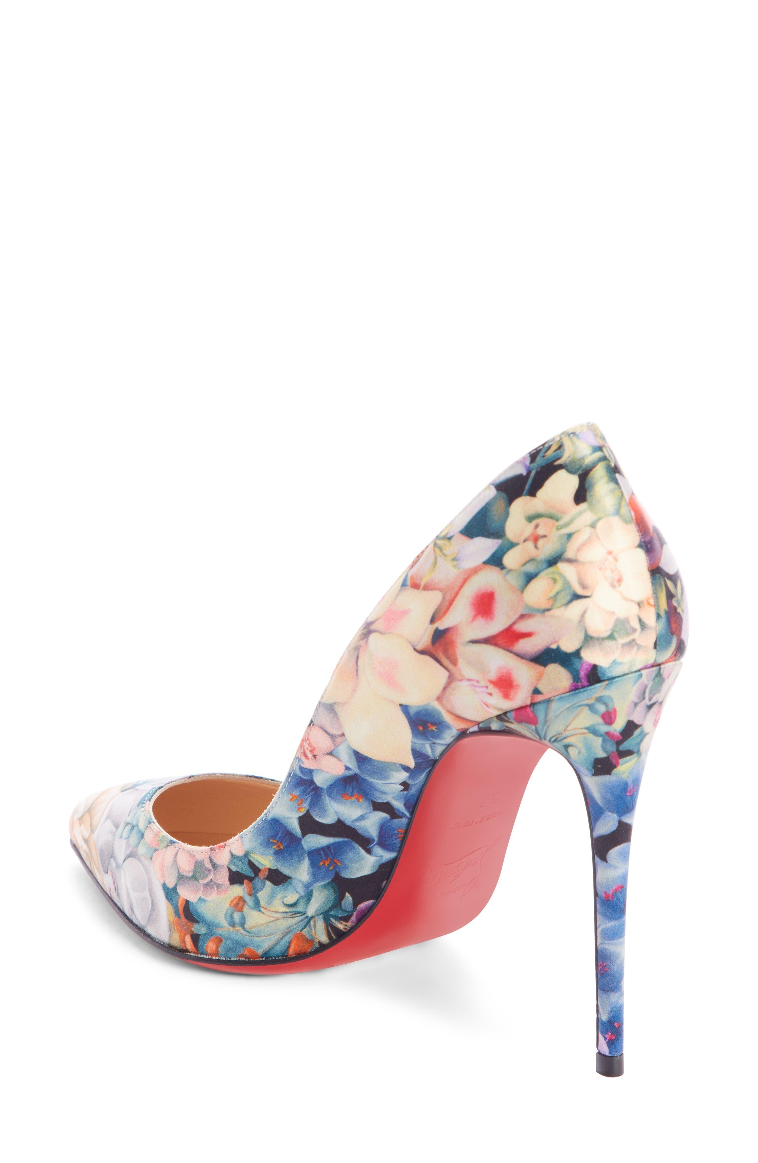 Pigalle Follies Floral Silk Pump,                             Alternate thumbnail 2, color,                             FLORAL MULTI