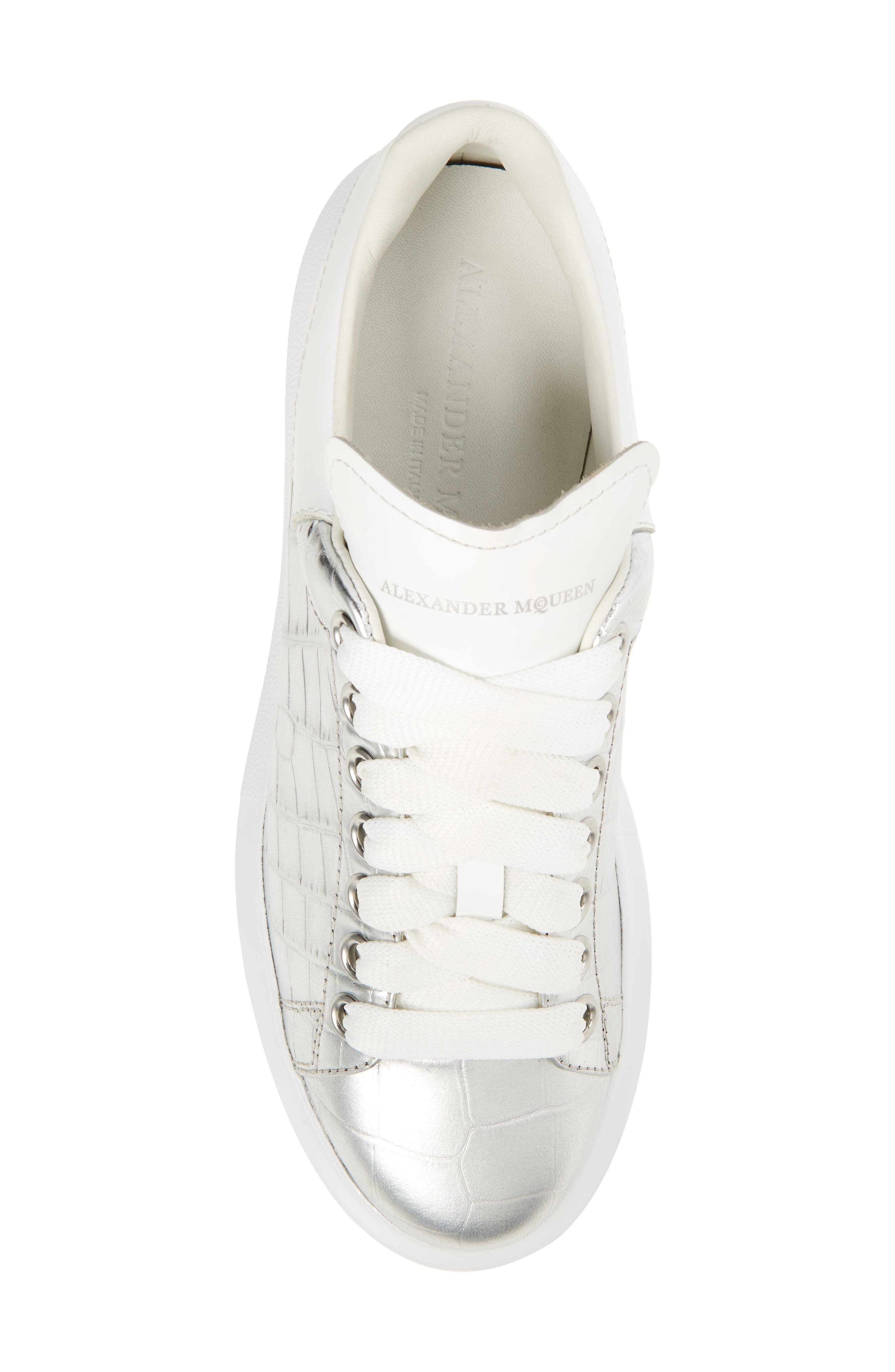 Croc Embossed Lace-Up Sneaker,                             Alternate thumbnail 5, color,                             040