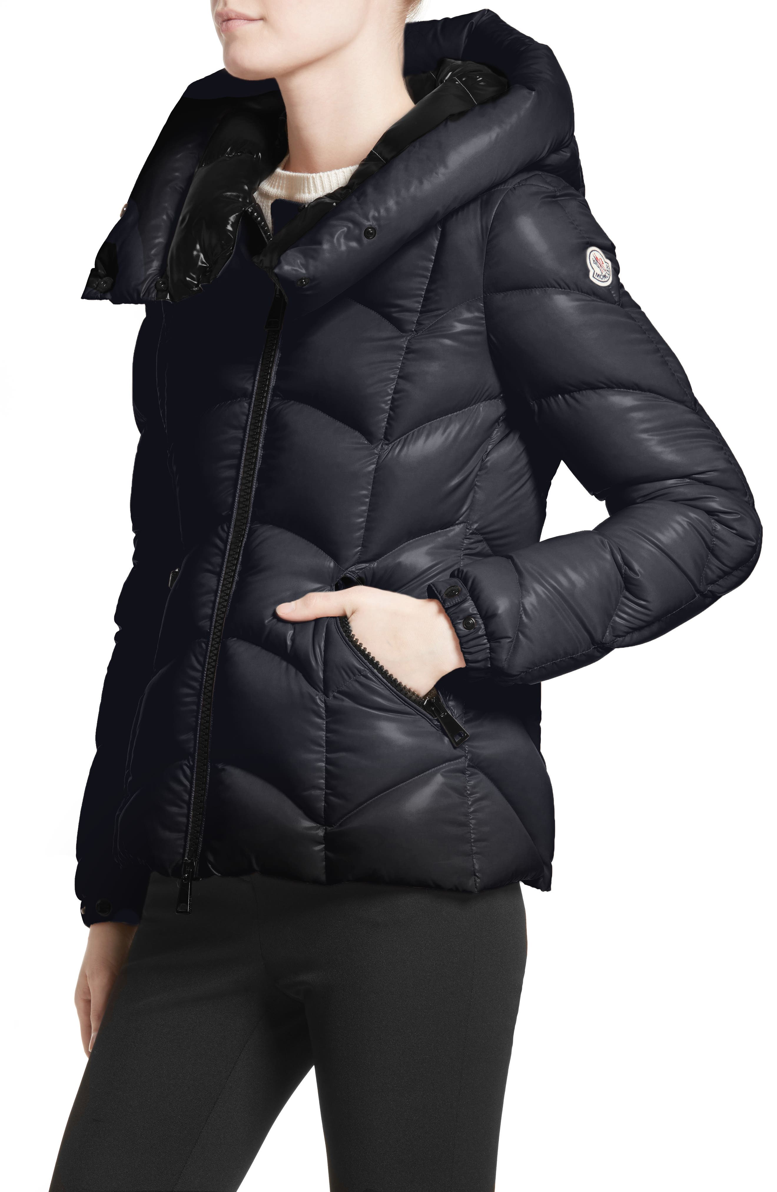 Akebia Quilted Down Jacket,                             Alternate thumbnail 4, color,                             NAVY