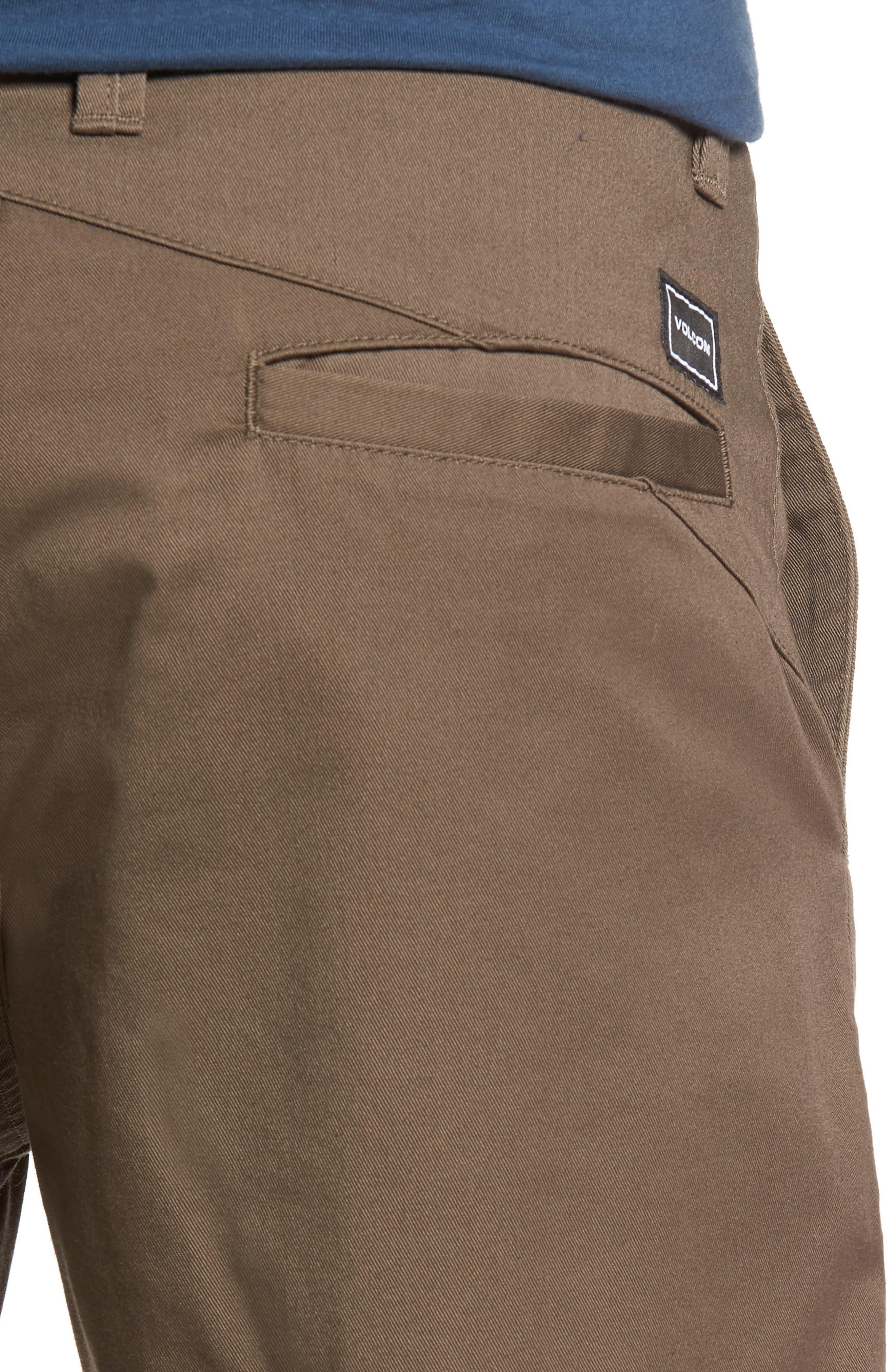 Modern Chino Shorts,                             Alternate thumbnail 4, color,                             MUSHROOM